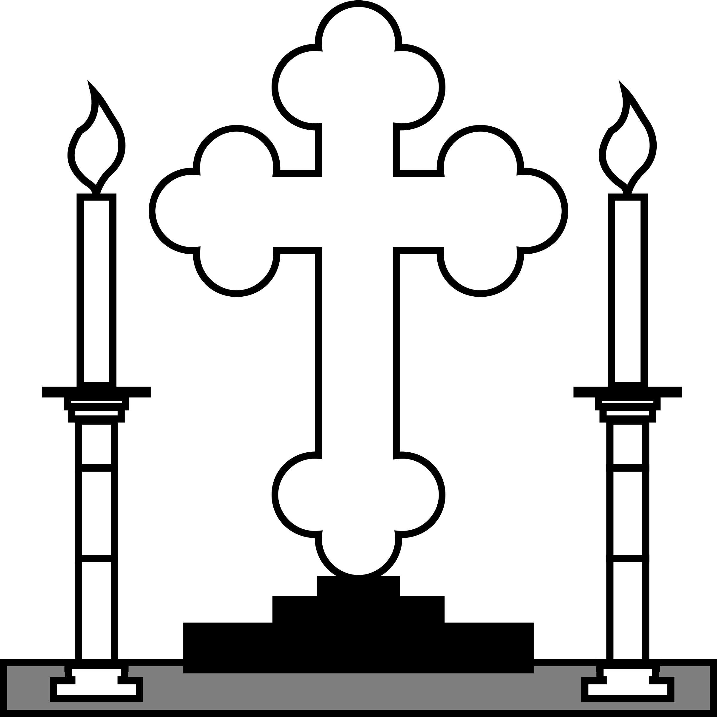 Cross and Candles by PhilipBarrington