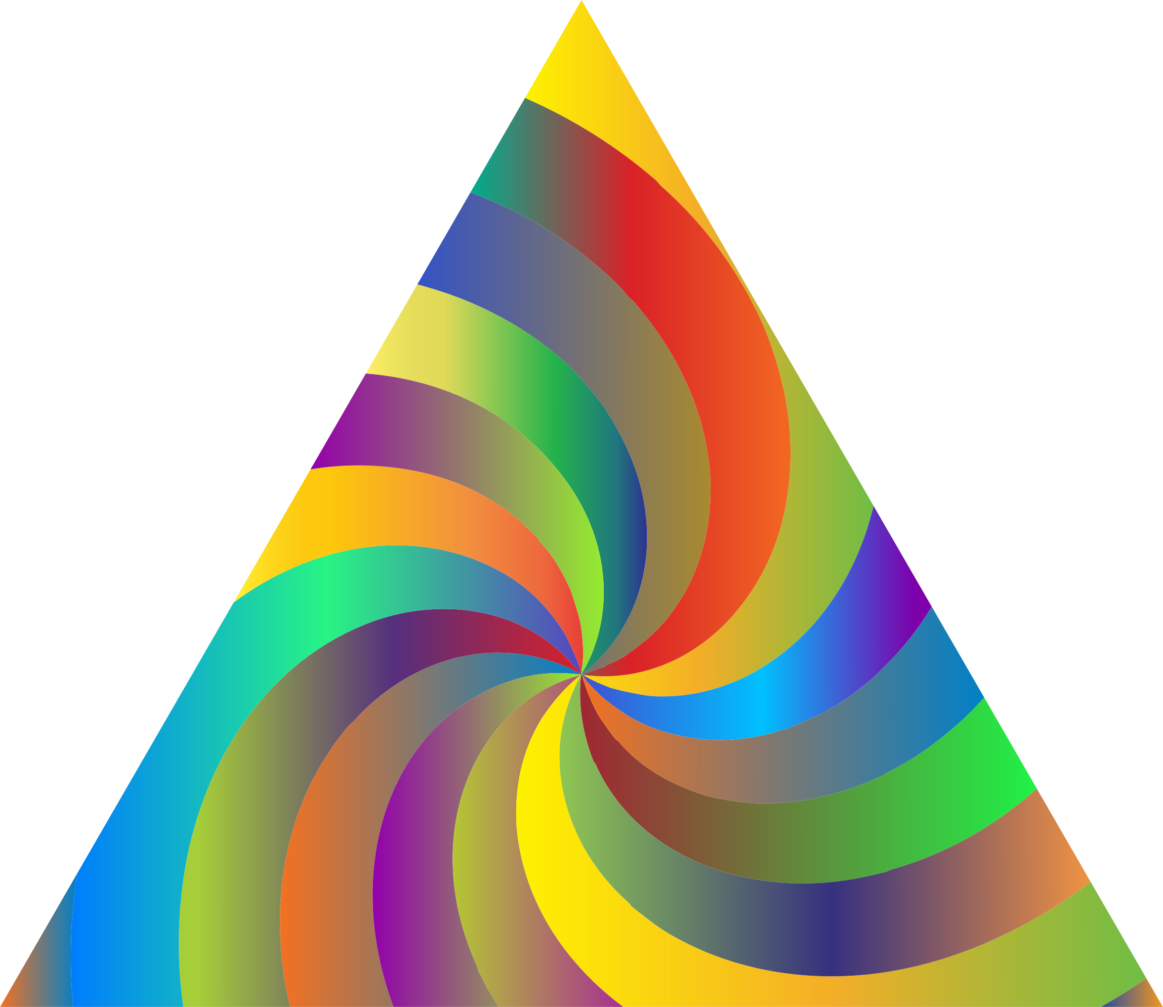 Prismatic Swirly Triangle by GDJ