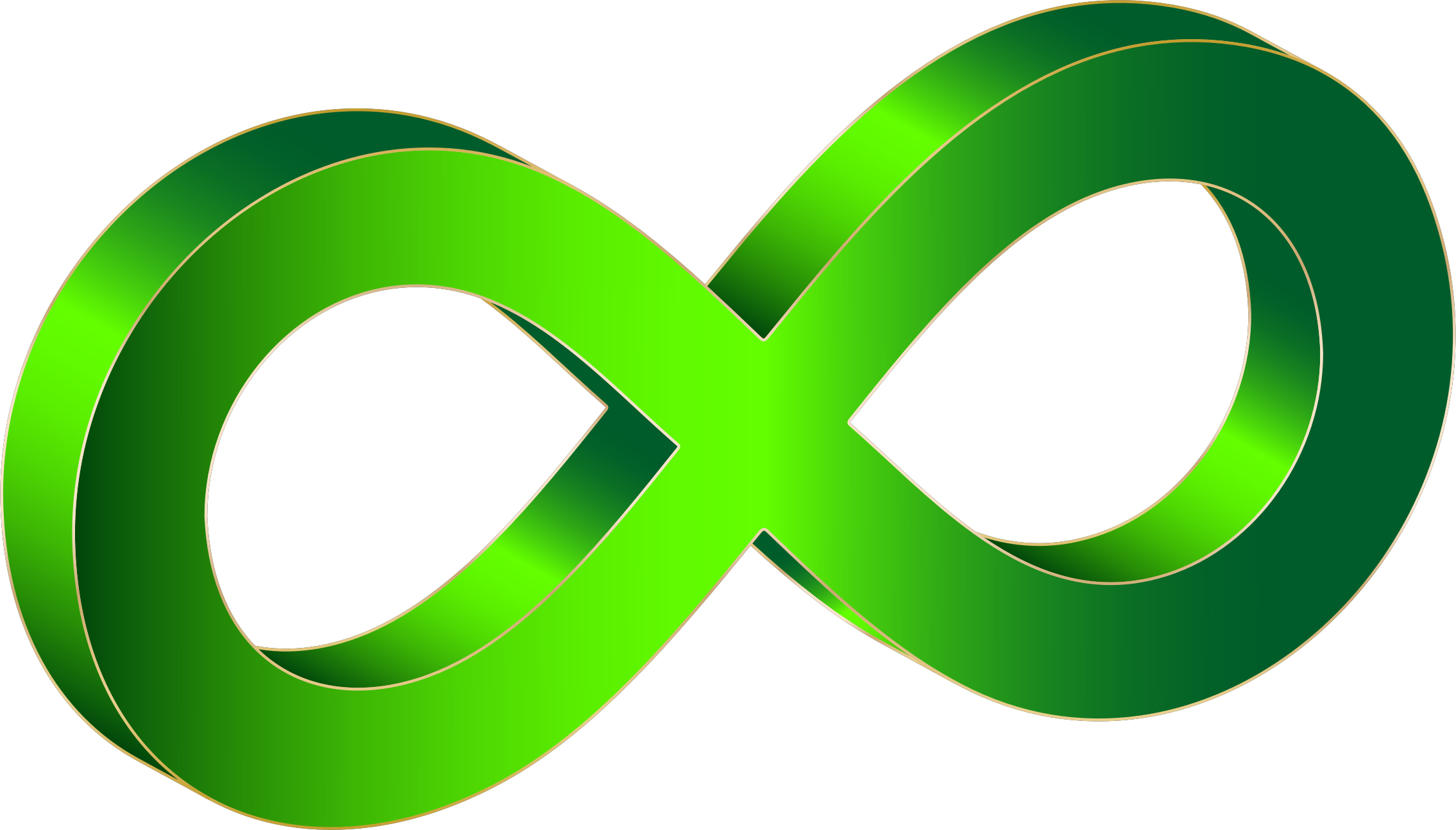 Clipart - 3D Infinity Symbol Variation 6