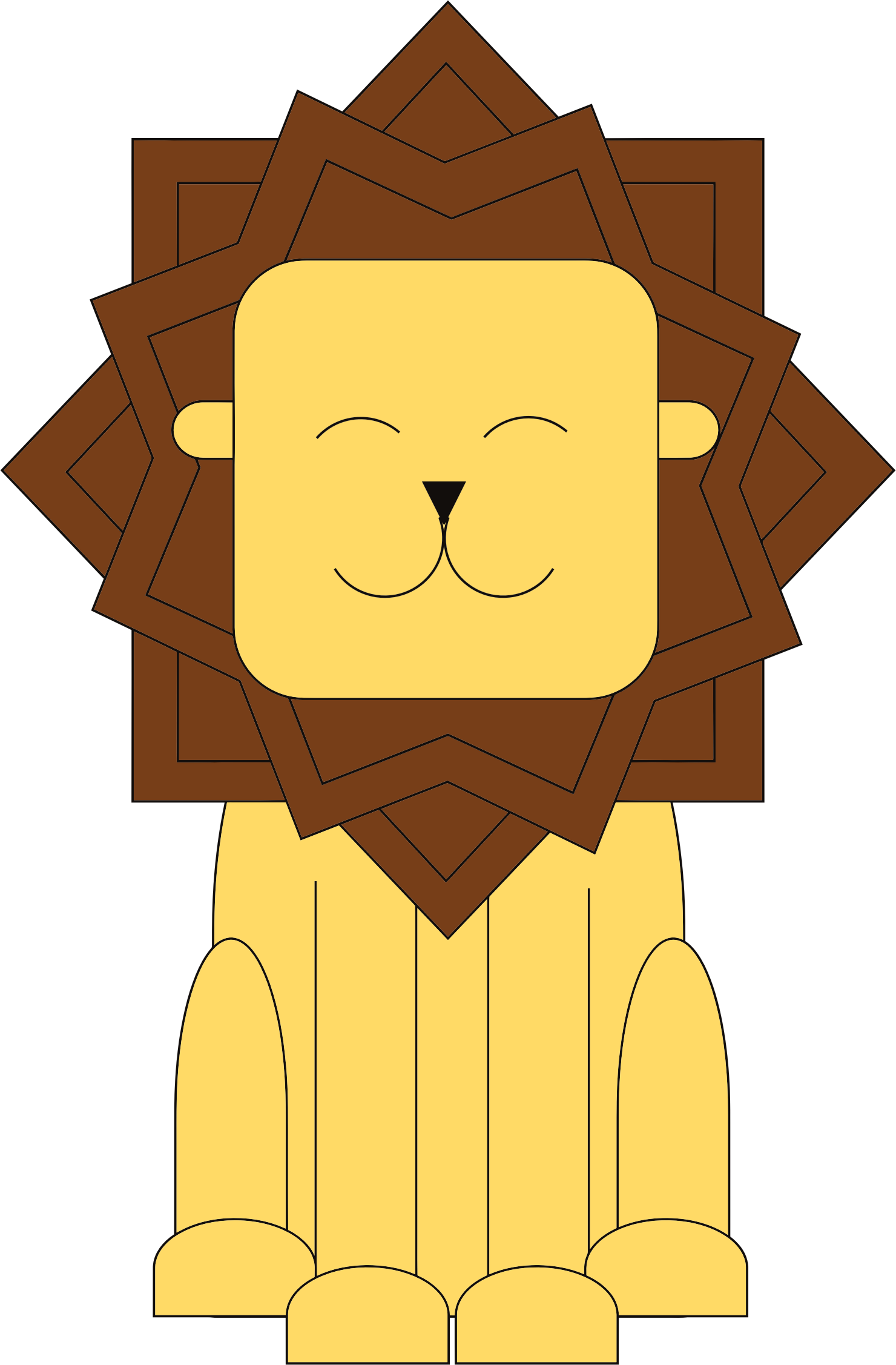 Stylized Cartoon Lion by GDJ
