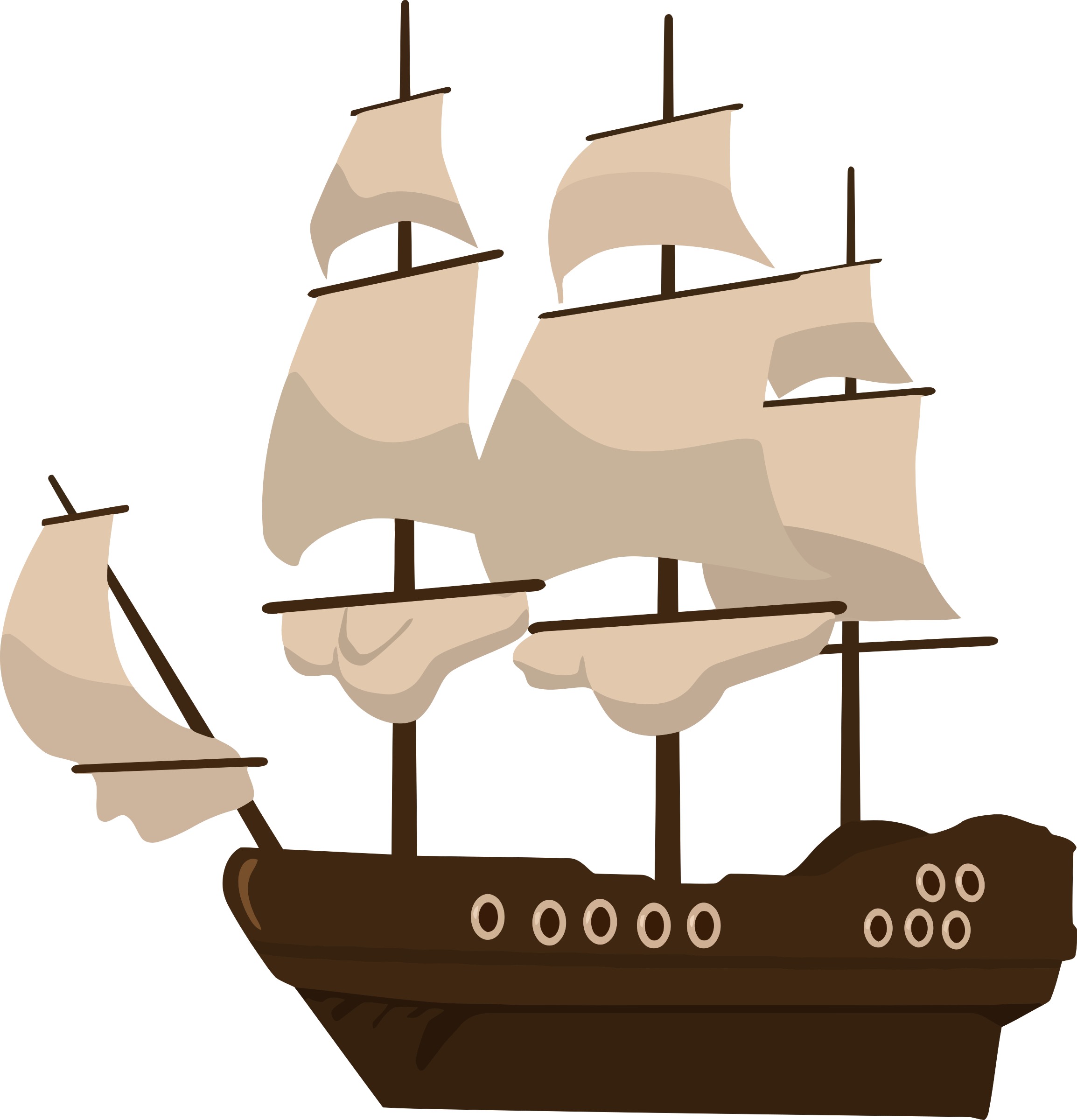 Clipart - pirate ship