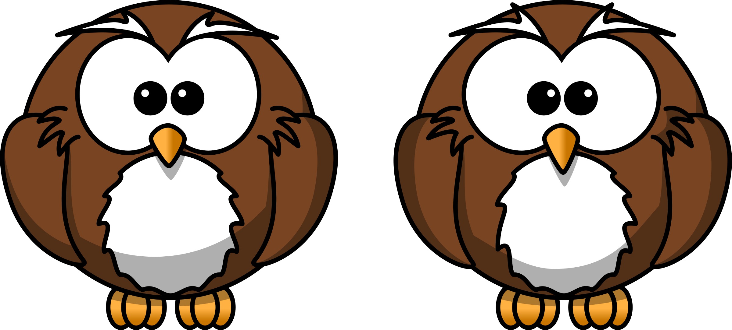 Two owls clipart