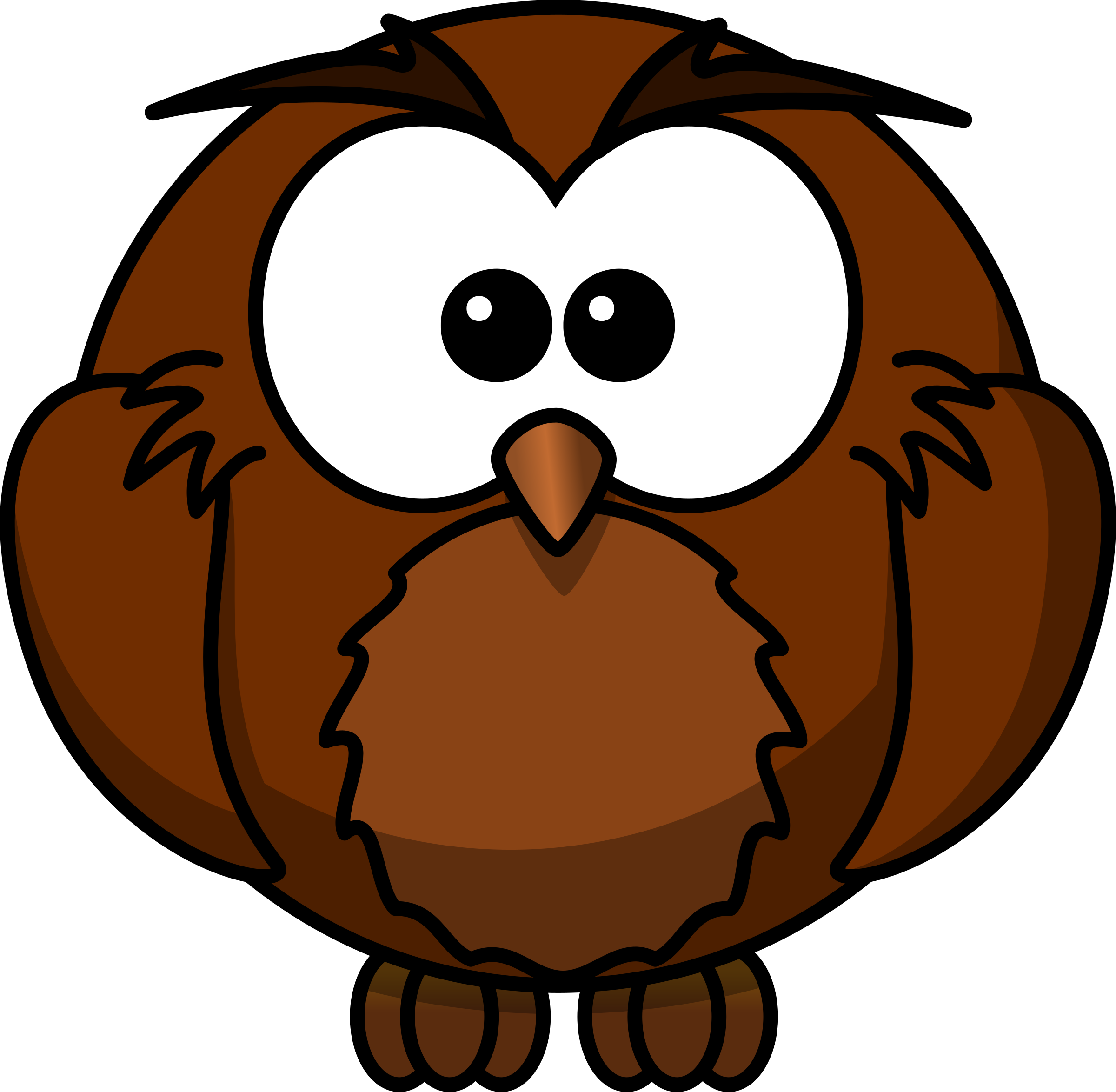 wise Cartoon owl who has sat under a Mango tree for many years and knows how to listen well and has considered many issues and who knows many things and shares them carefully by The Martin