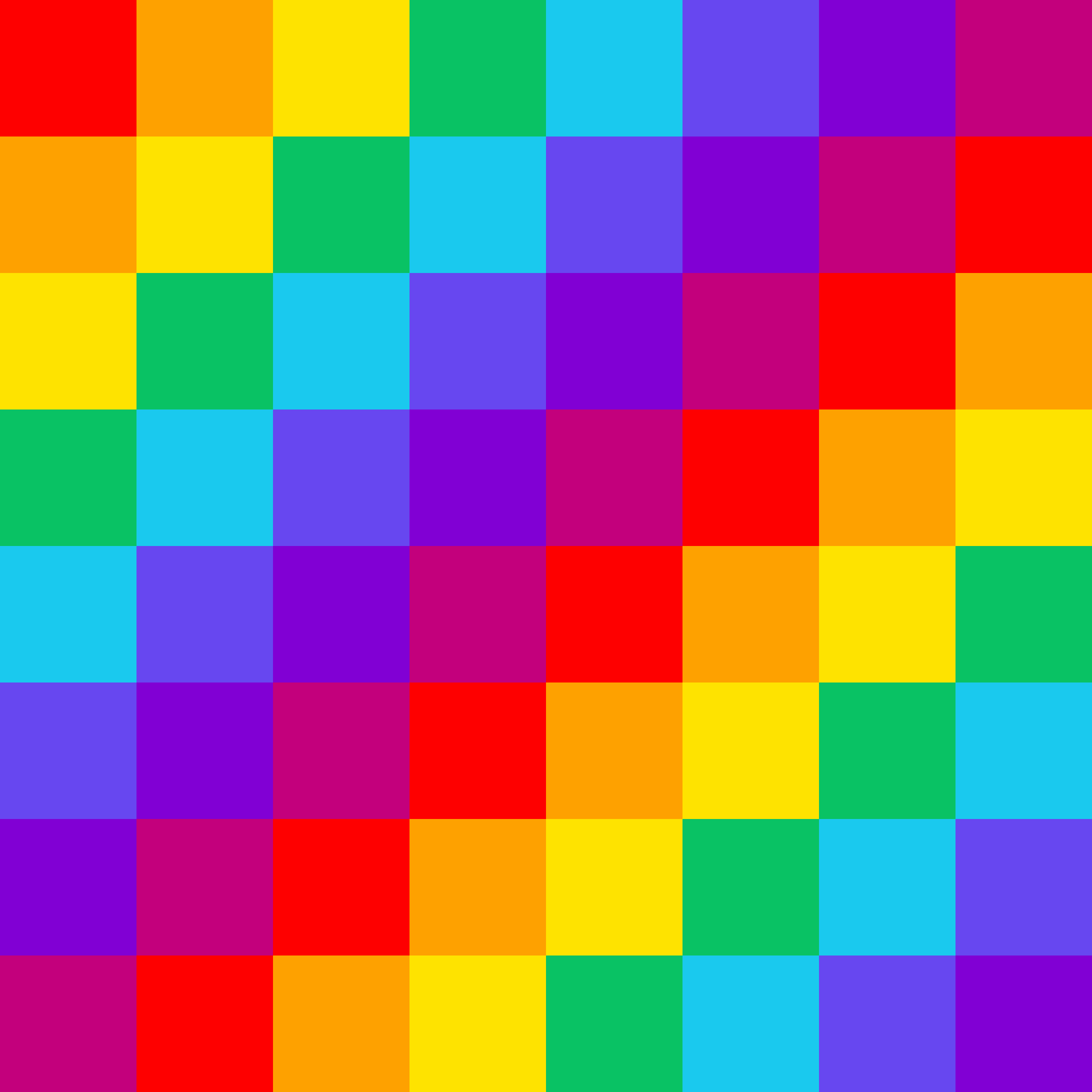 Rainbow checker pattern by phidari