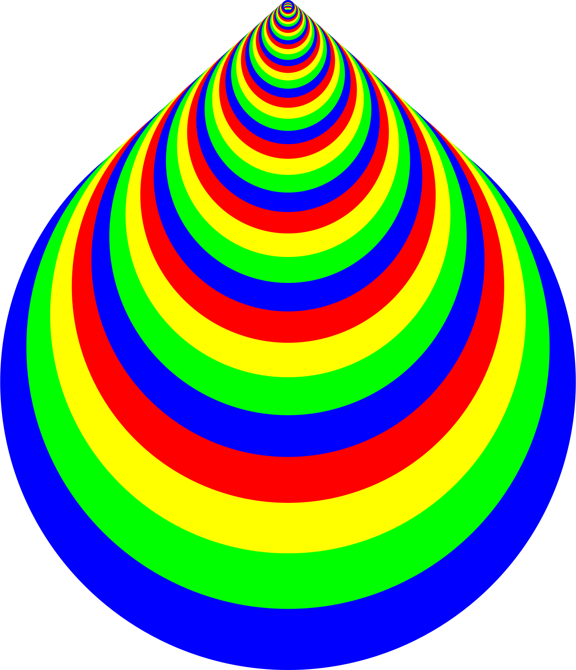 Colorful Concentric Rings by GDJ