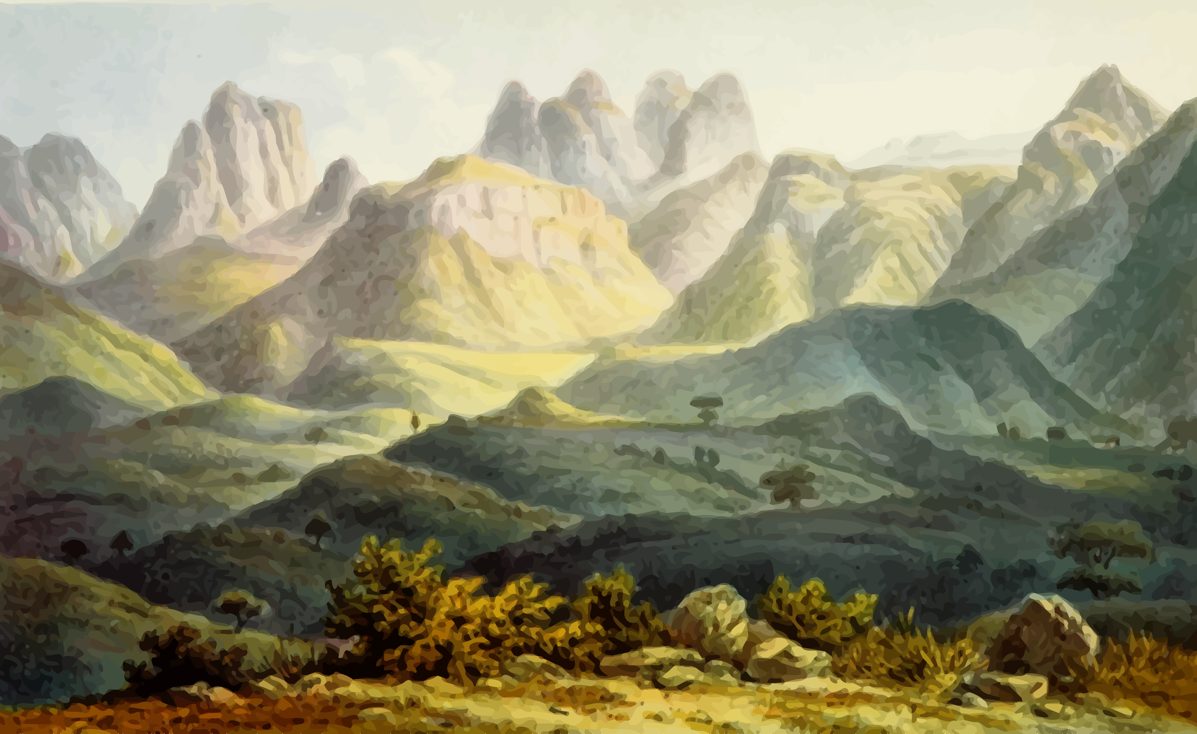 Mountain scene by Firkin
