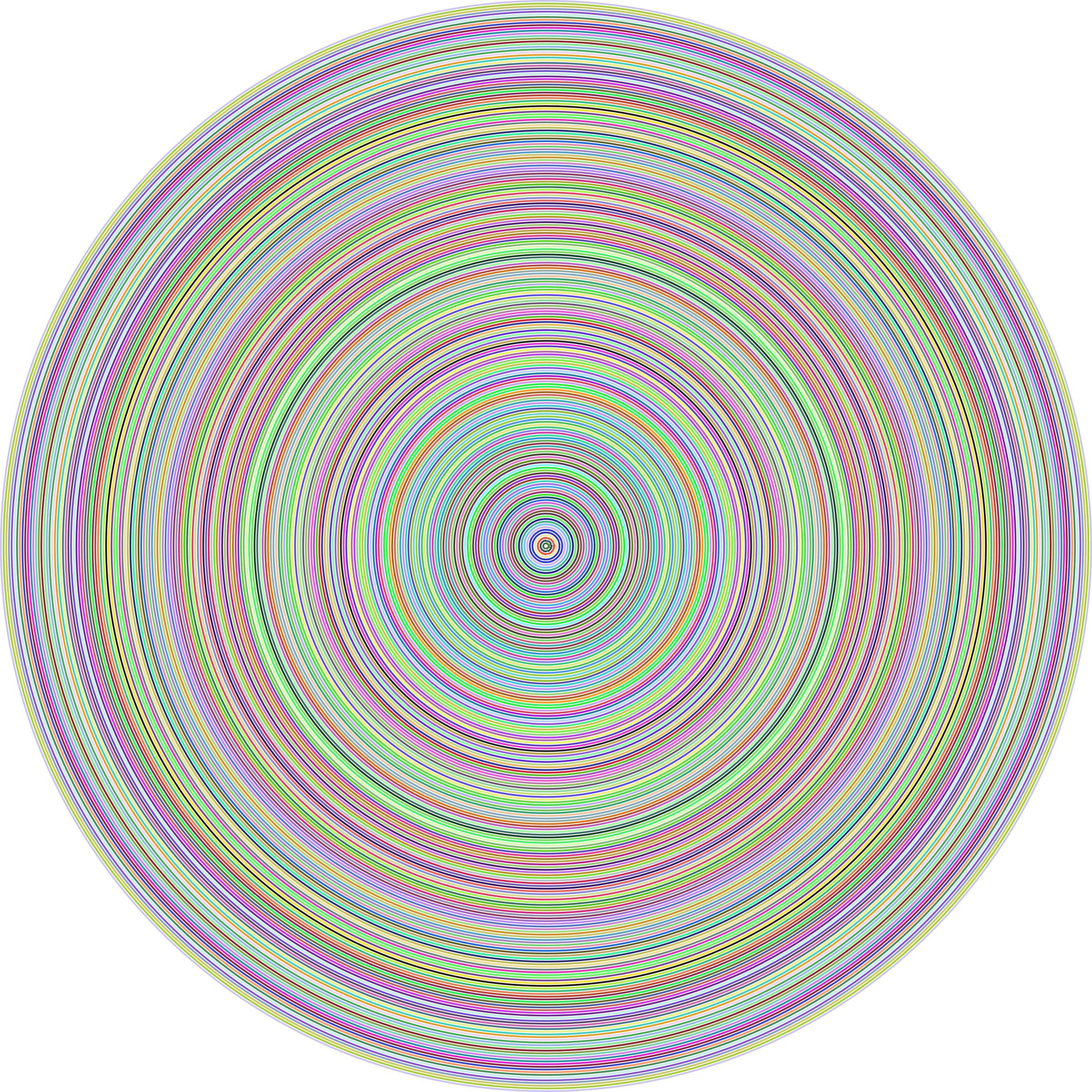 Concentric Prismatic Circles No Background by GDJ
