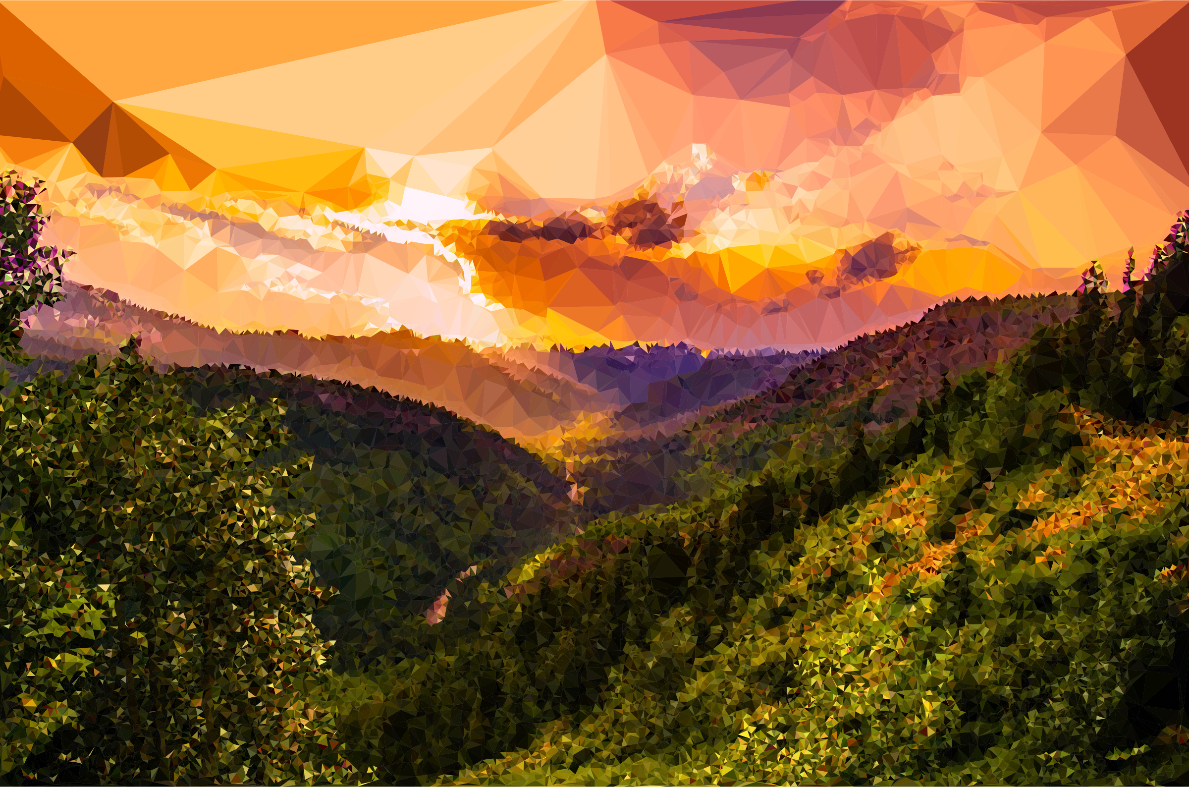 Low Poly Montana Sunset by GDJ