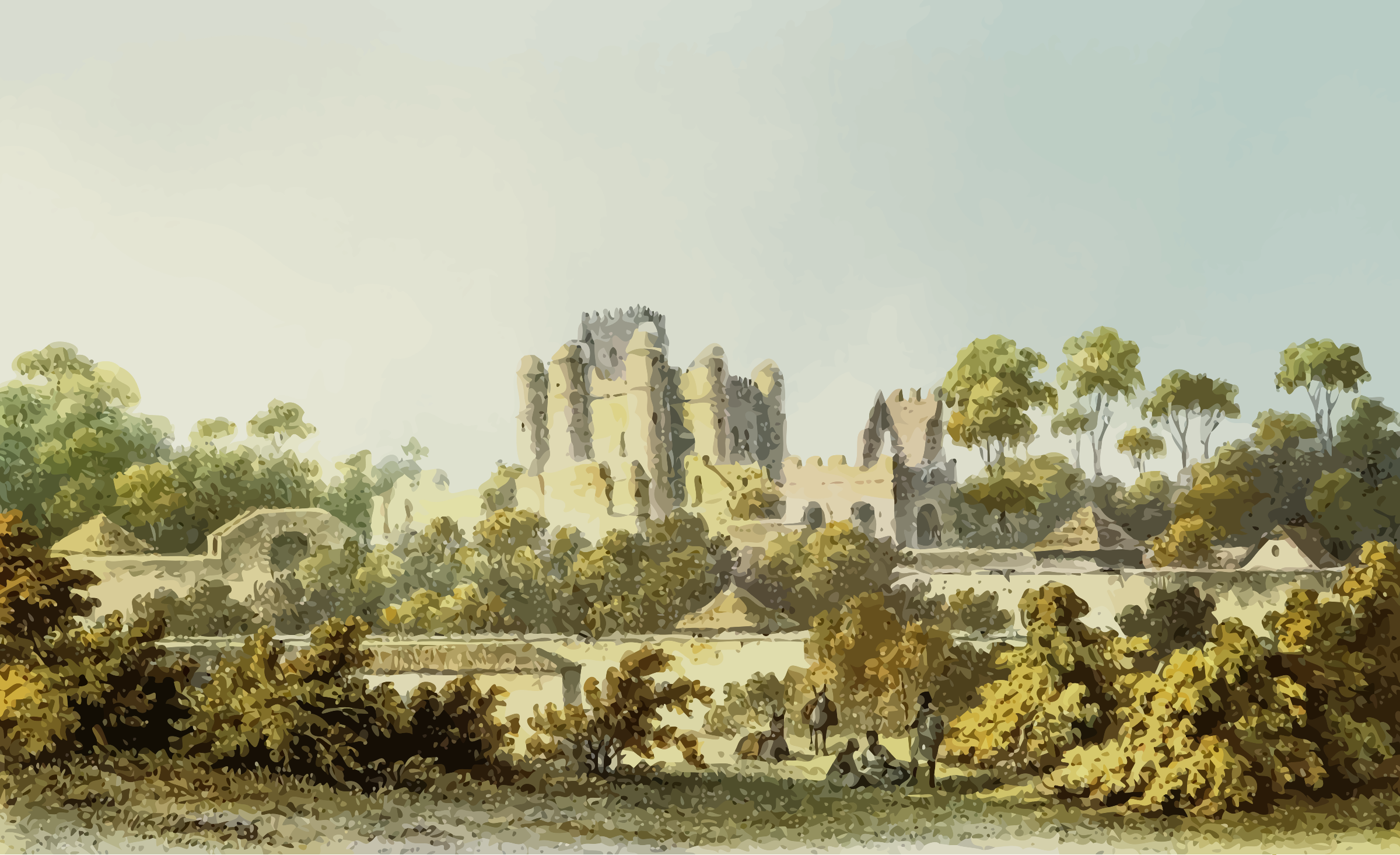 Castle scene by Firkin