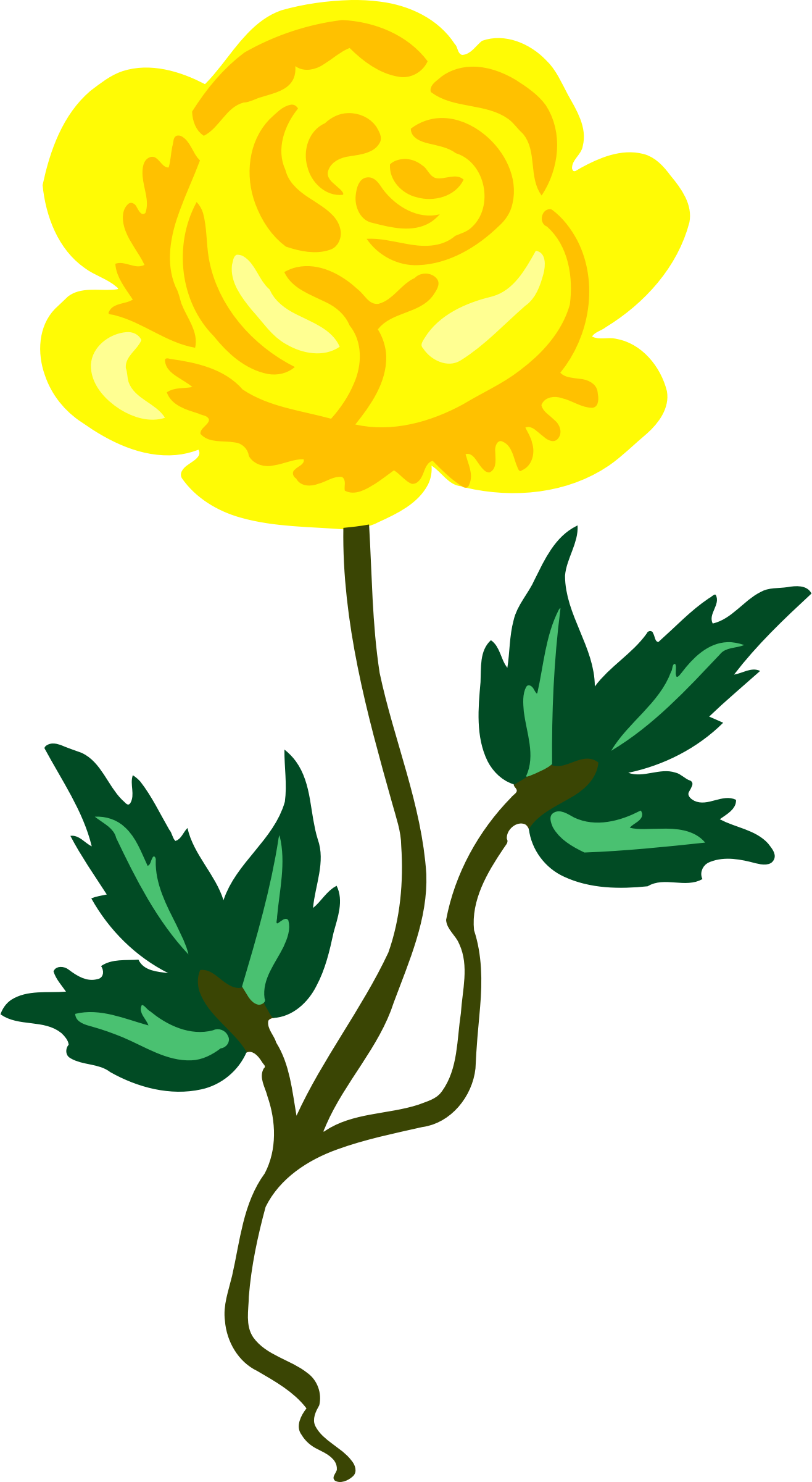 clipart   rose 17 yellow