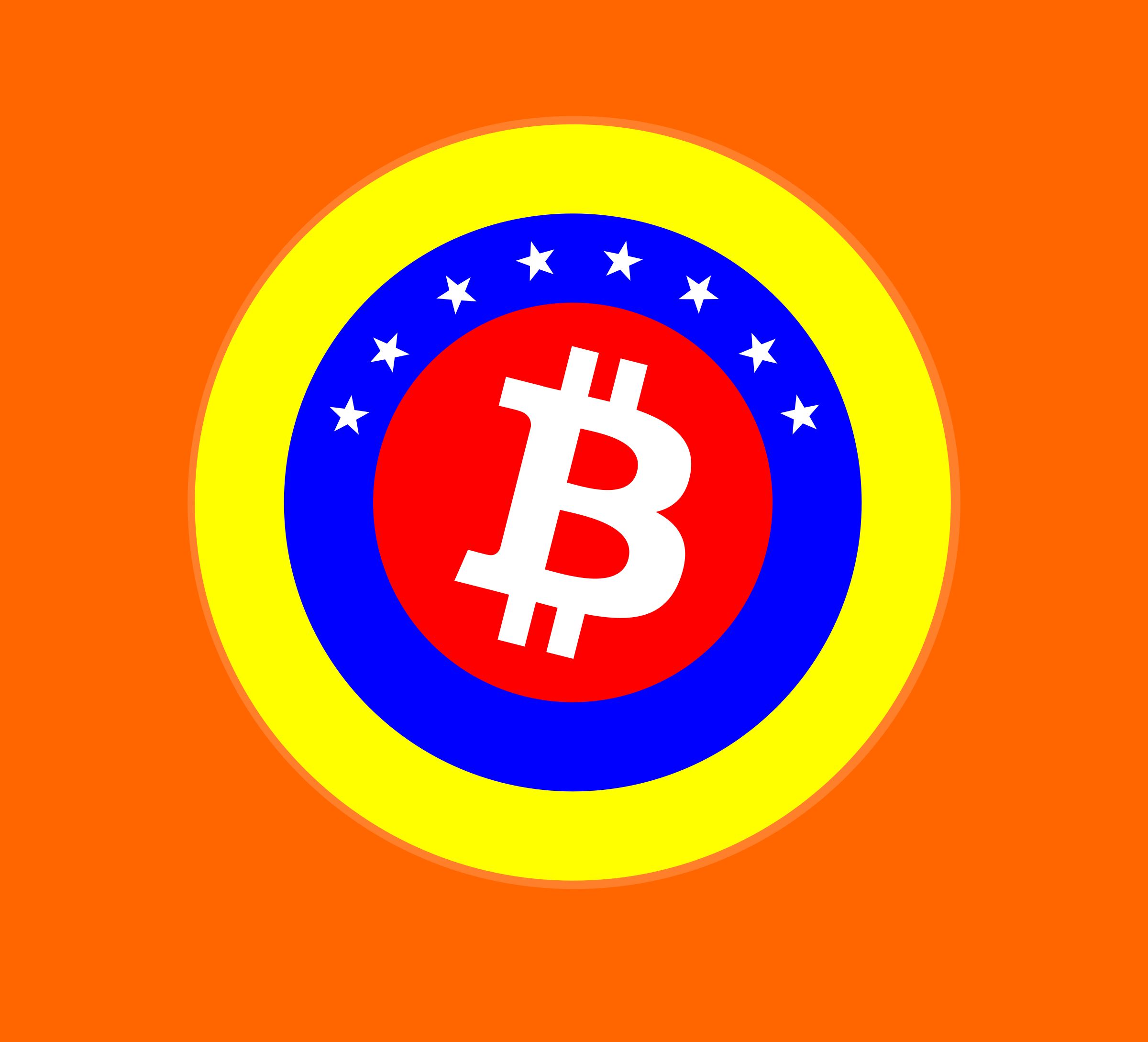 Logo Bitcoin Venezuela by ronyworld