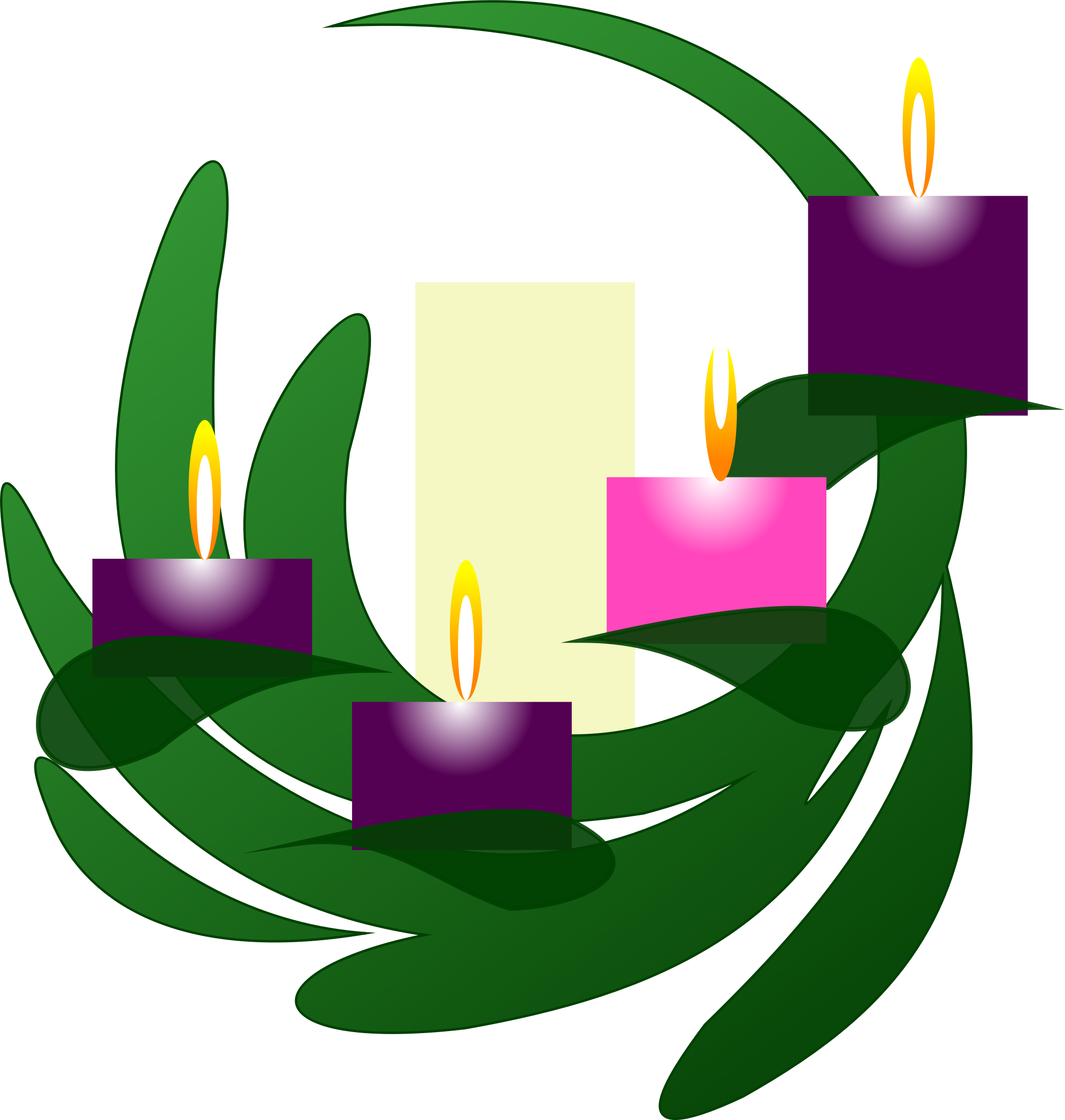 Advent 4 Wreath by PhilipBarrington