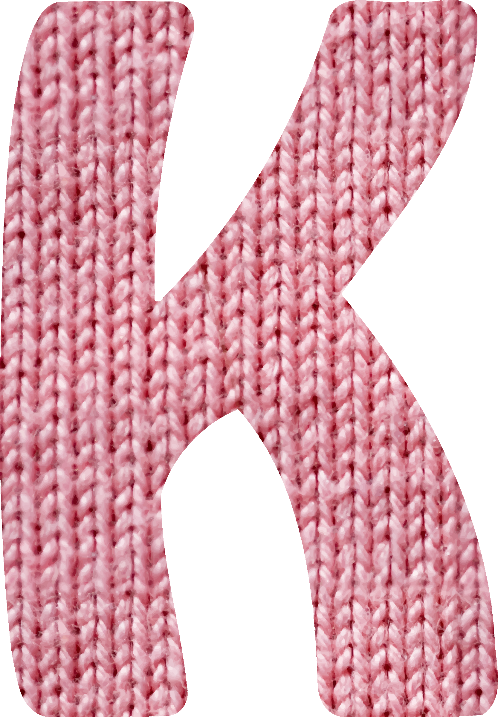 Woolly alphabet, K by Firkin