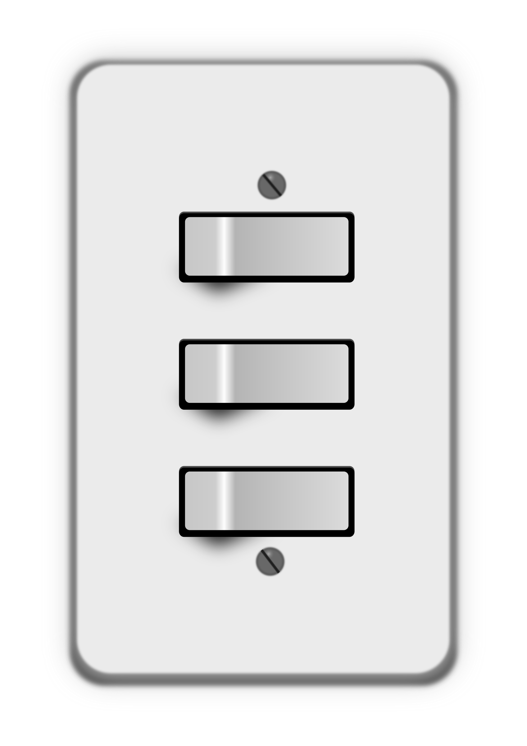 Clipart - Light switch 3 switches (all on)