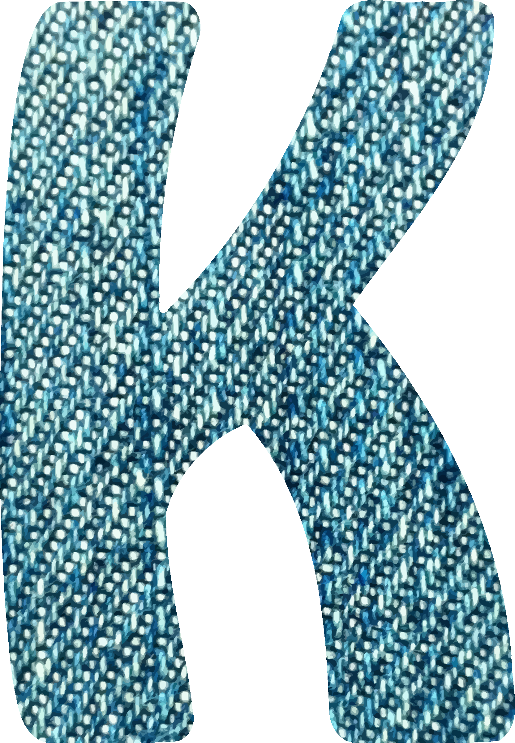 Denim alphabet, K by Firkin