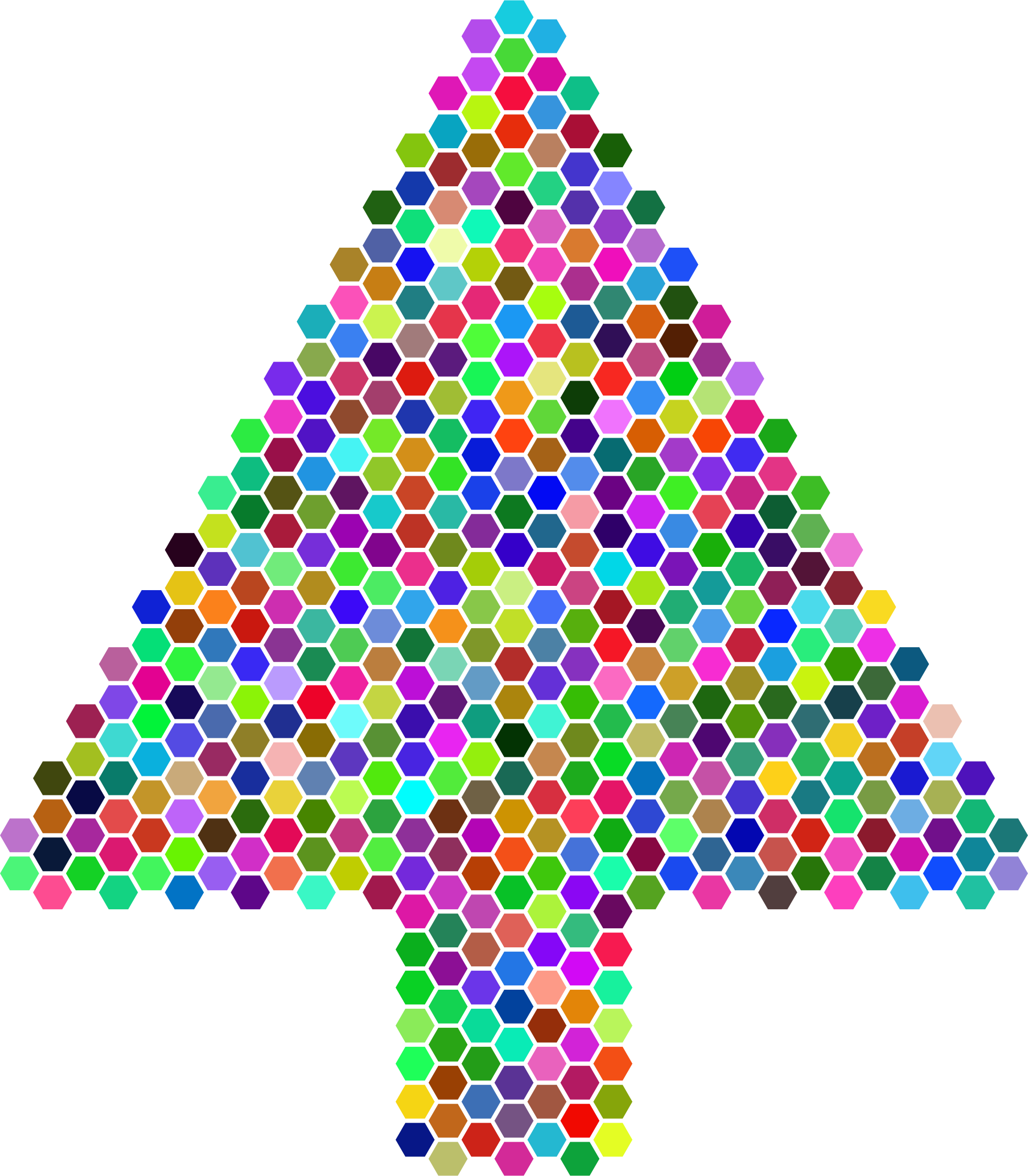 Prismatic Hexagonal Abstract Christmas Tree by GDJ