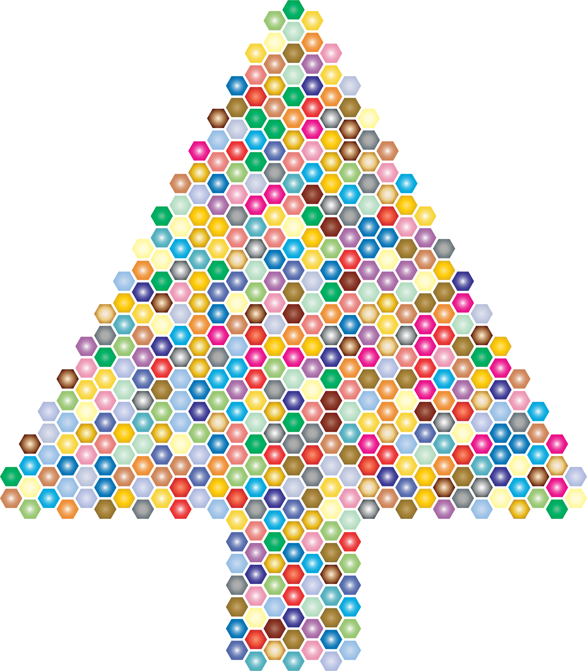 Prismatic Hexagonal Abstract Christmas Tree 2 by GDJ