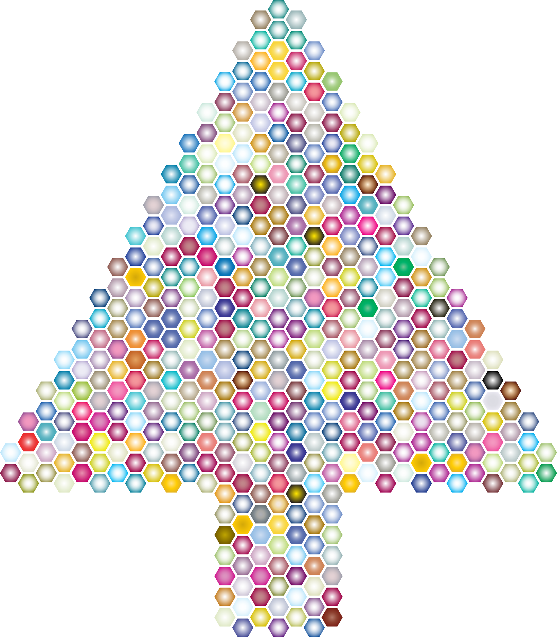 Prismatic Hexagonal Abstract Christmas Tree 3 by GDJ