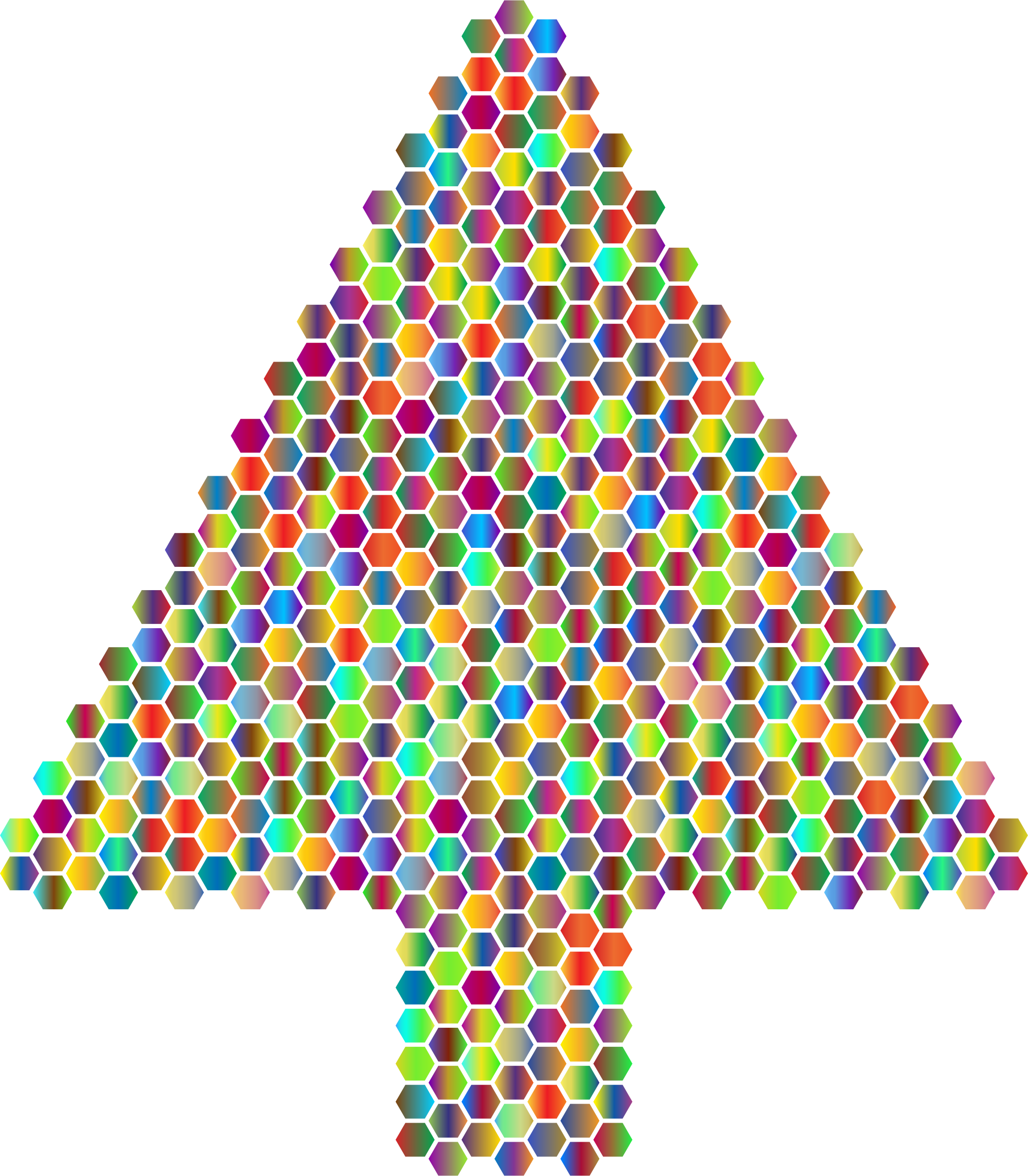 Prismatic Hexagonal Abstract Christmas Tree 4 by GDJ