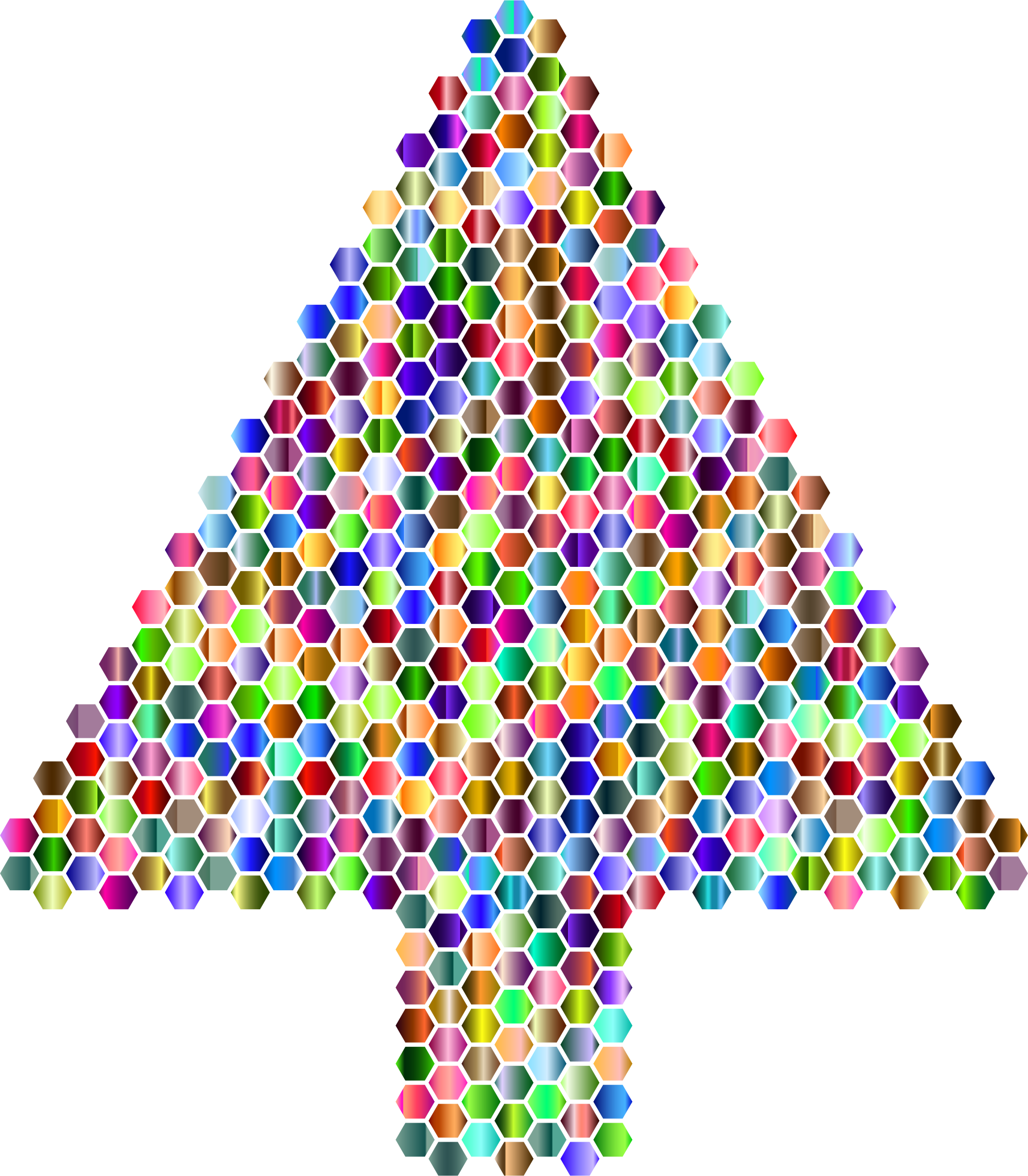Prismatic Hexagonal Abstract Christmas Tree 5 by GDJ