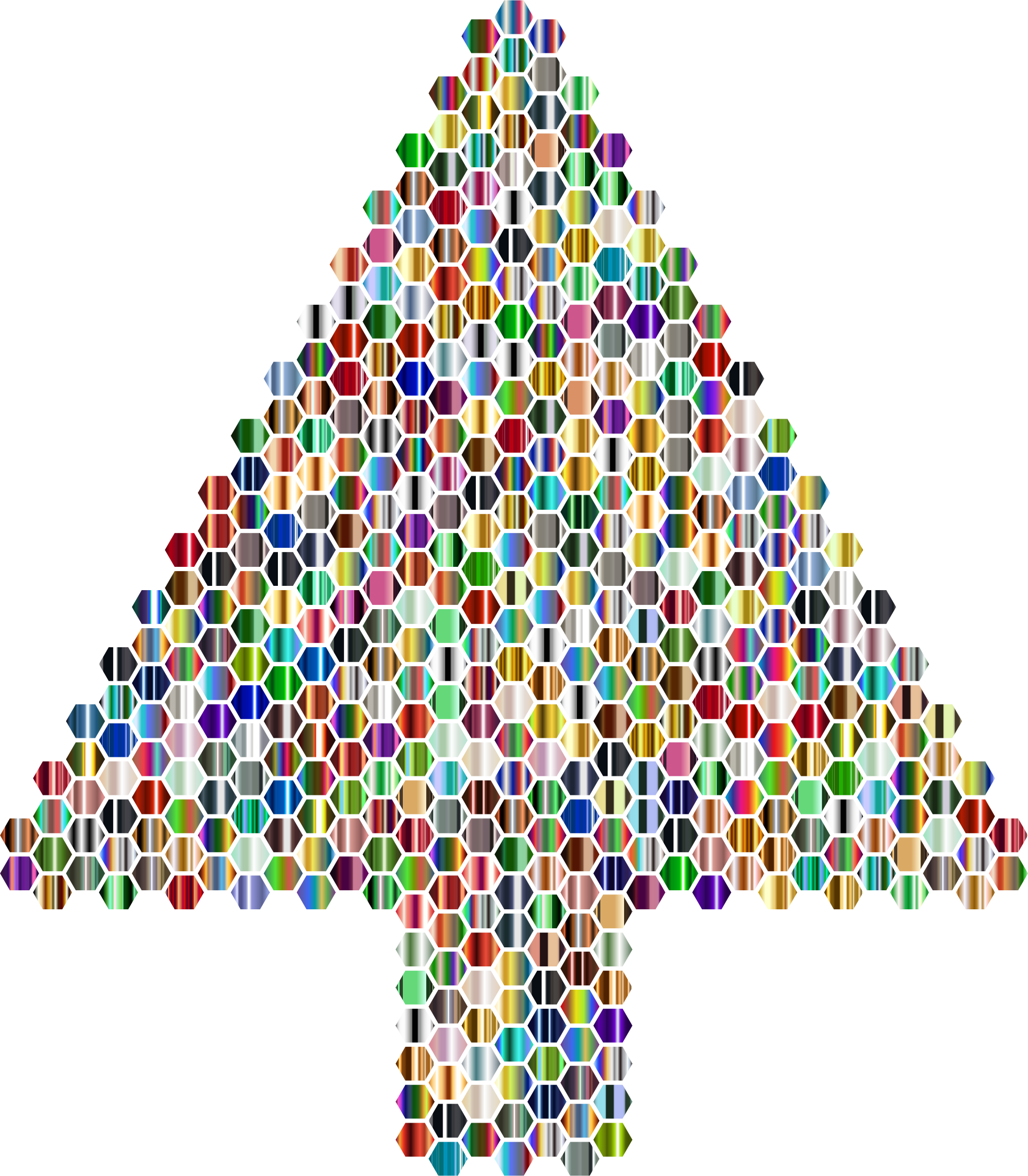Prismatic Hexagonal Abstract Christmas Tree 6 by GDJ