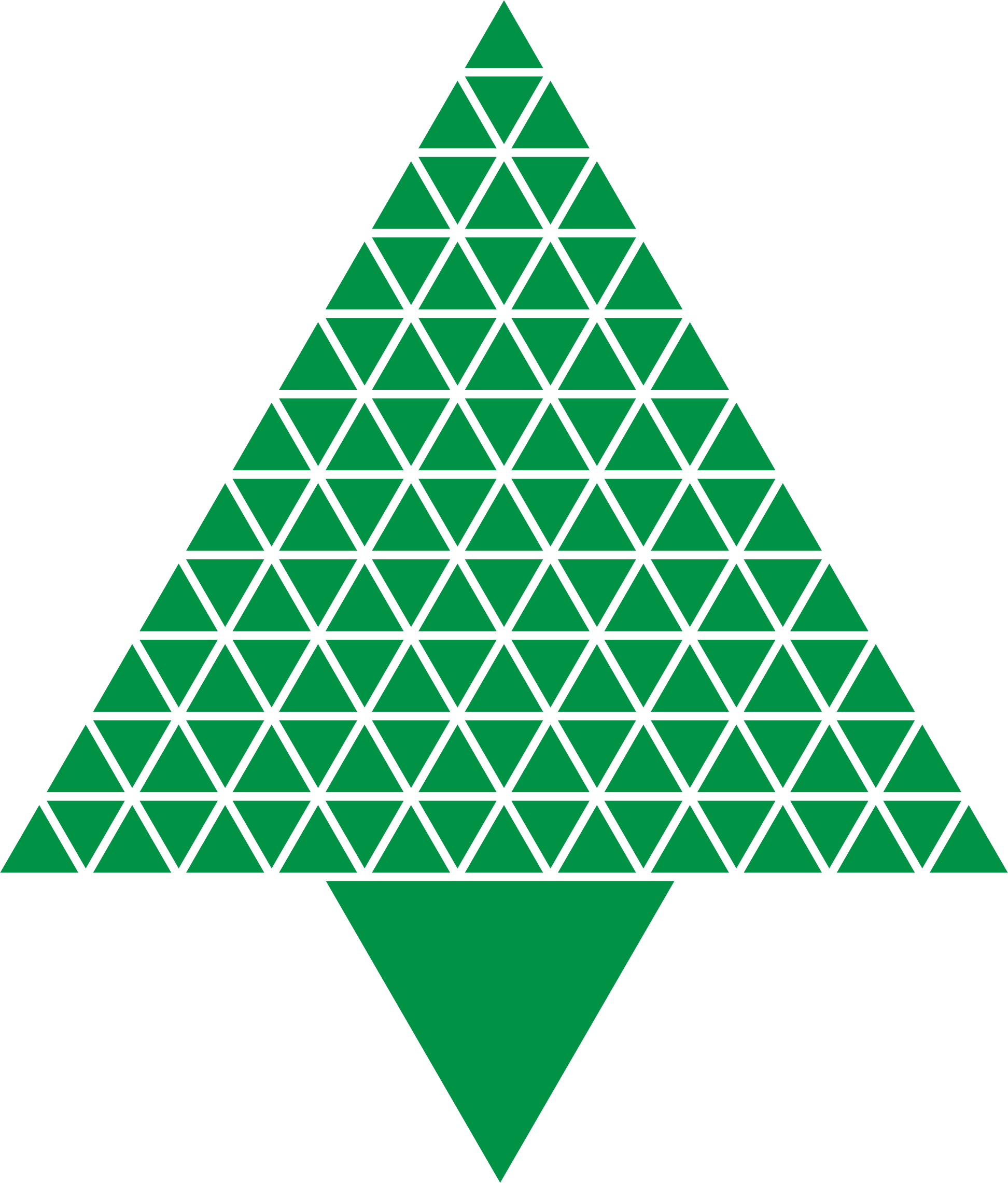 Abstract Triangular Christmas Tree Green by GDJ