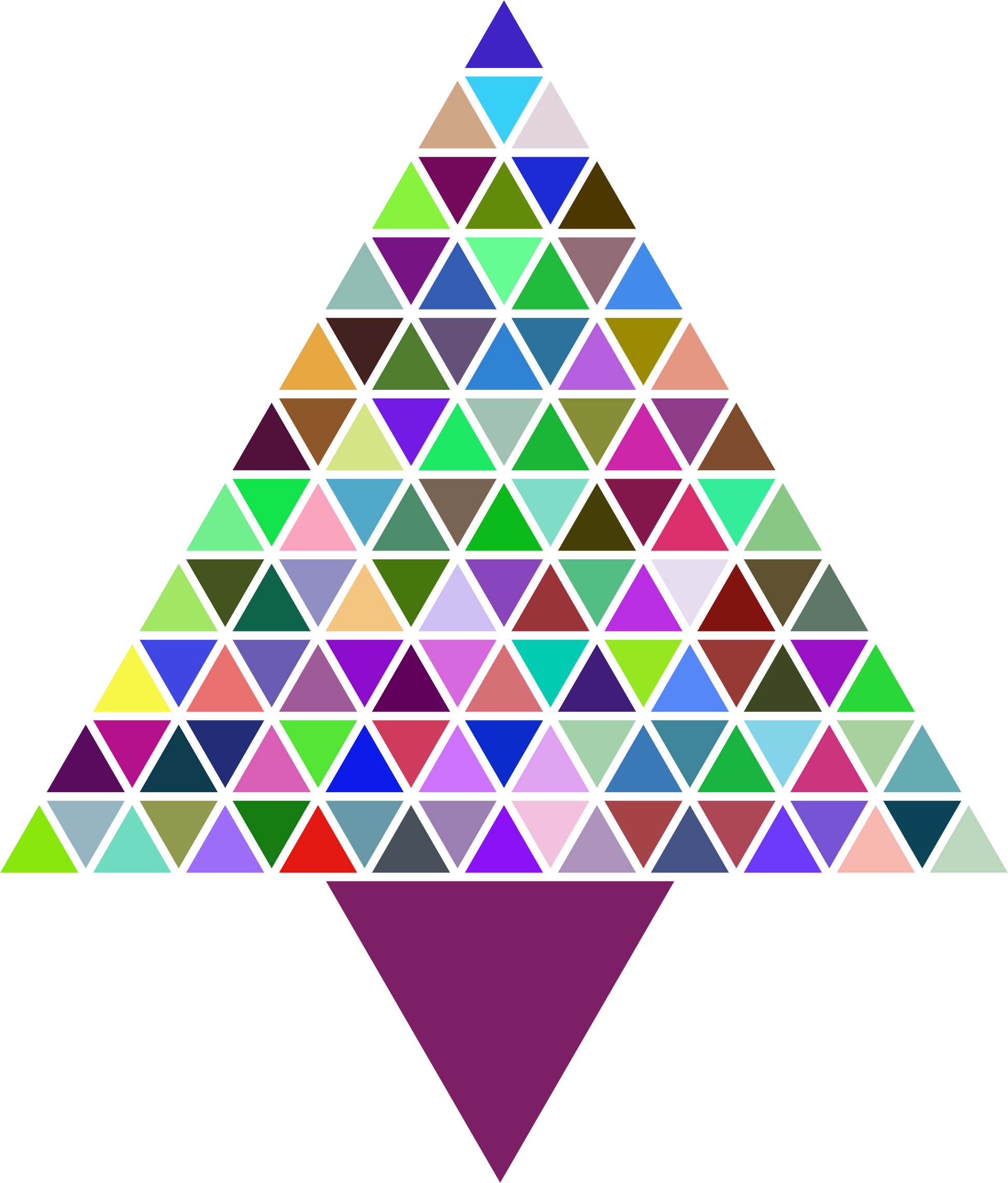Prismatic Abstract Triangular Christmas Tree by GDJ