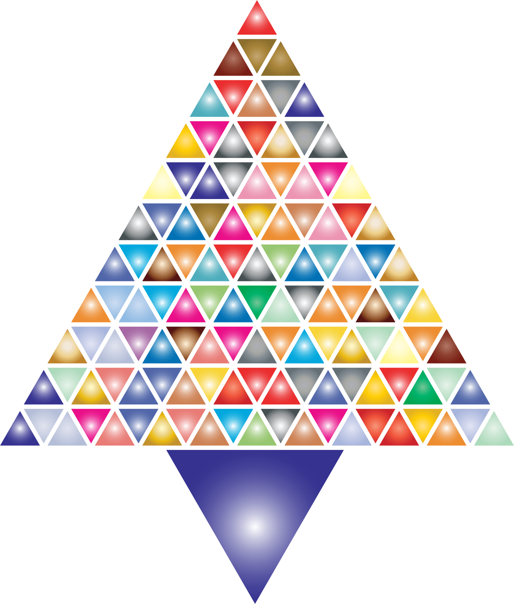 Prismatic Abstract Triangular Christmas Tree 2 by GDJ