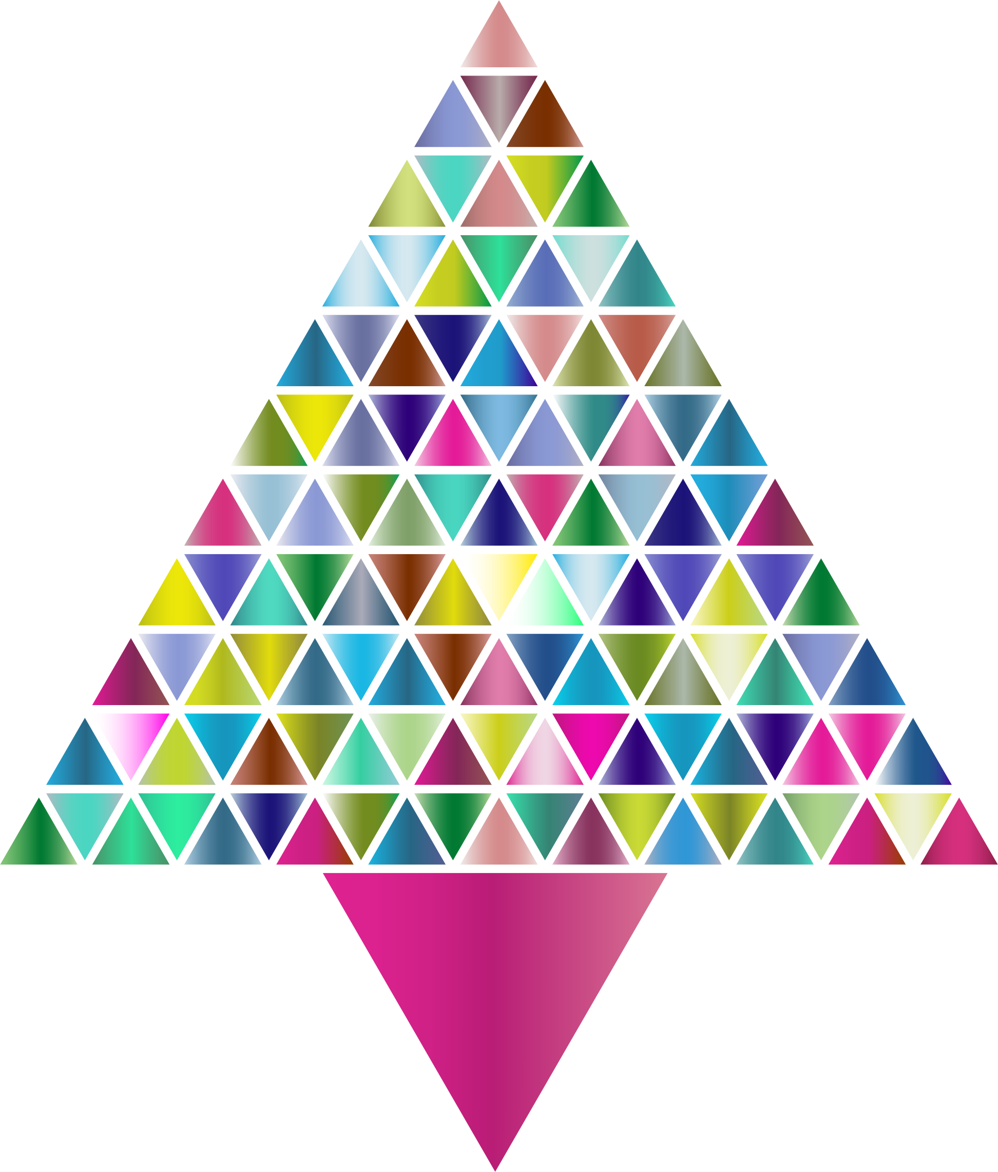 Prismatic Abstract Triangular Christmas Tree 3 by GDJ
