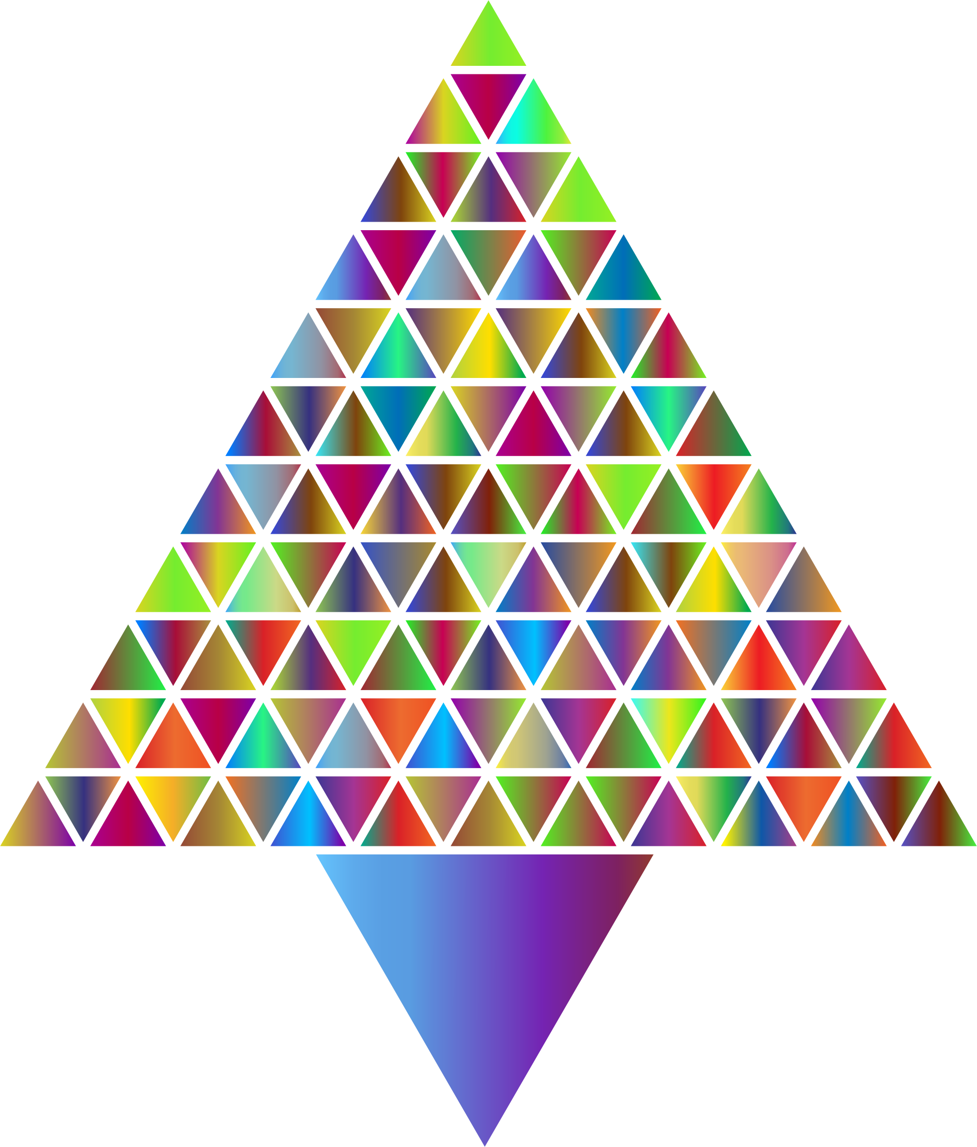 Prismatic Abstract Triangular Christmas Tree 4 by GDJ