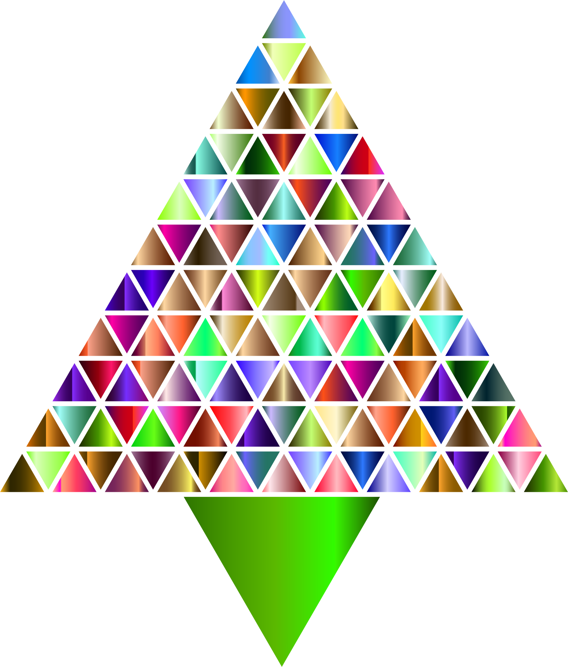 Prismatic Abstract Triangular Christmas Tree 7 by GDJ