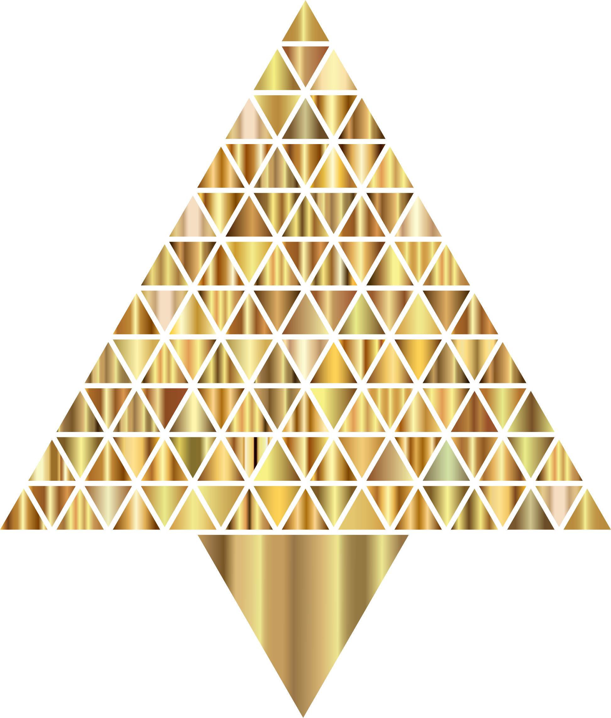 Prismatic Abstract Triangular Christmas Tree 8 by GDJ