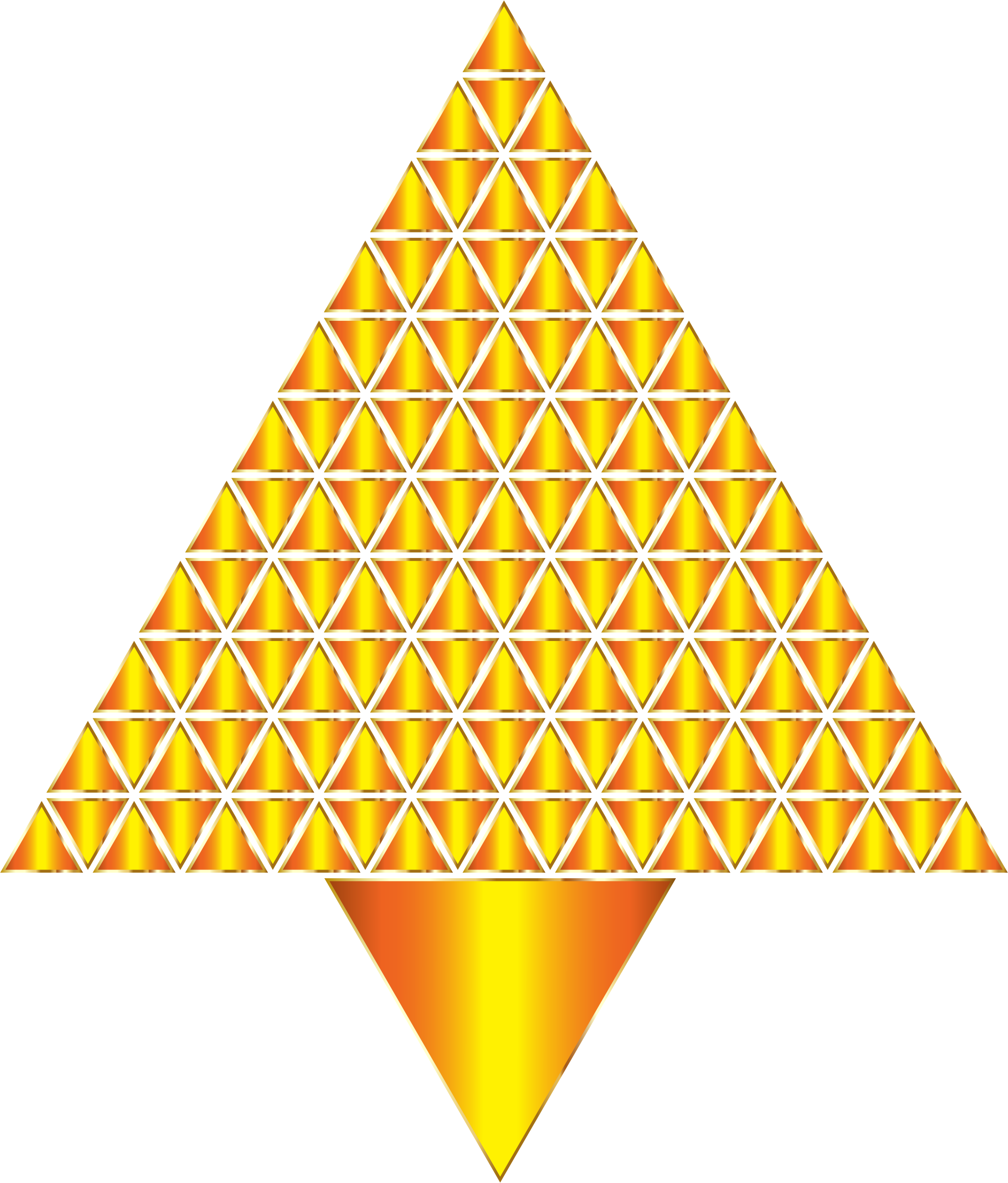 Prismatic Abstract Triangular Christmas Tree 9 No Background by GDJ