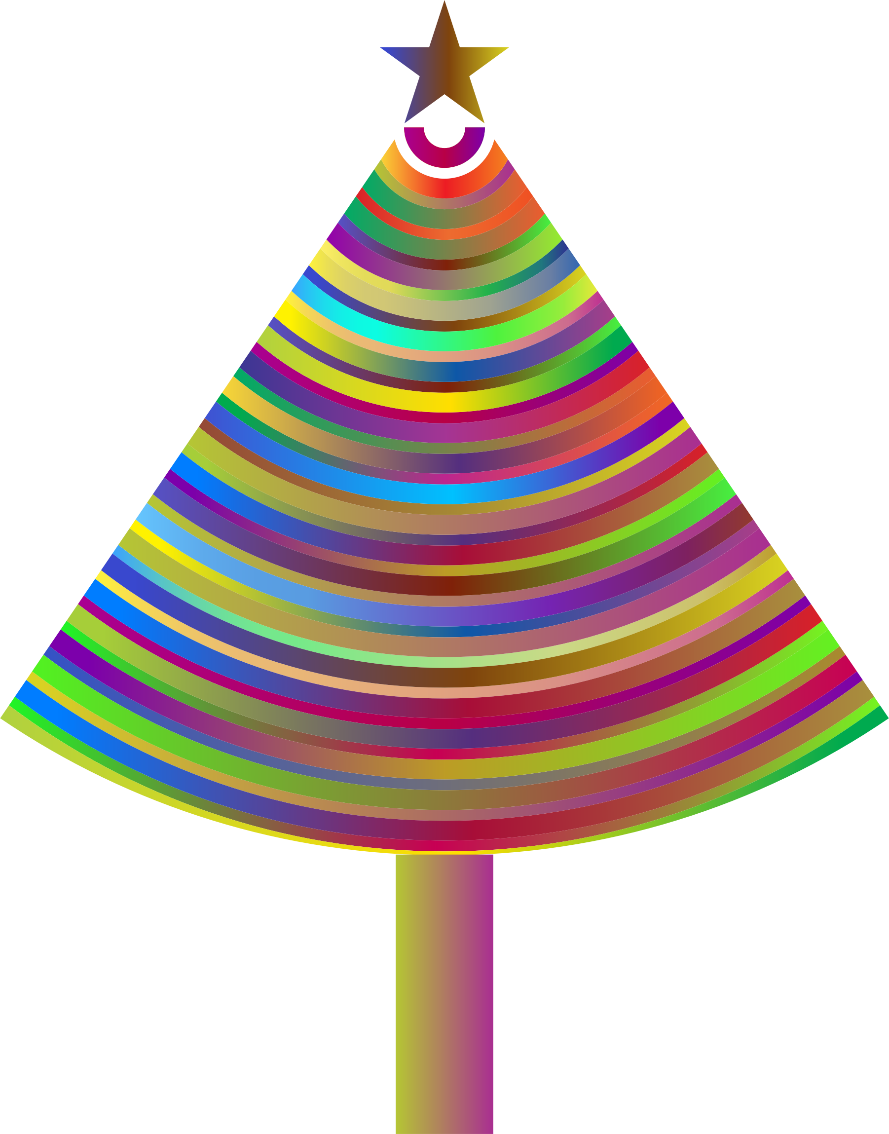 Prismatic Abstract Christmas Tree 3 by GDJ
