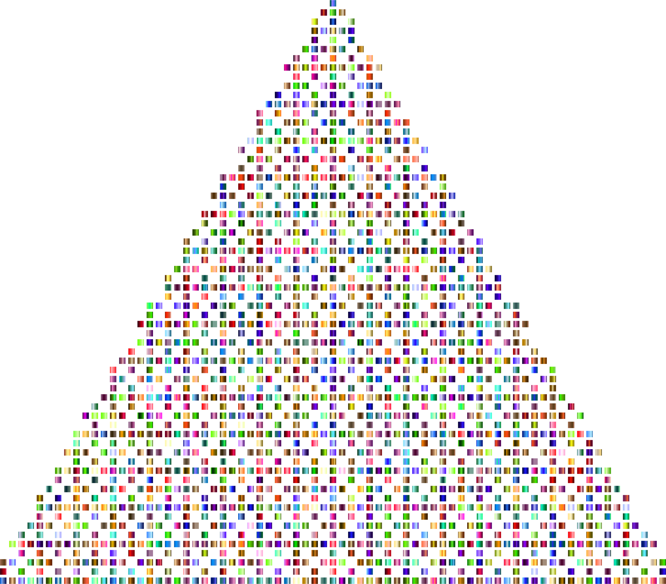 Prismatic Abstract Squares Christmas Tree 3 by GDJ
