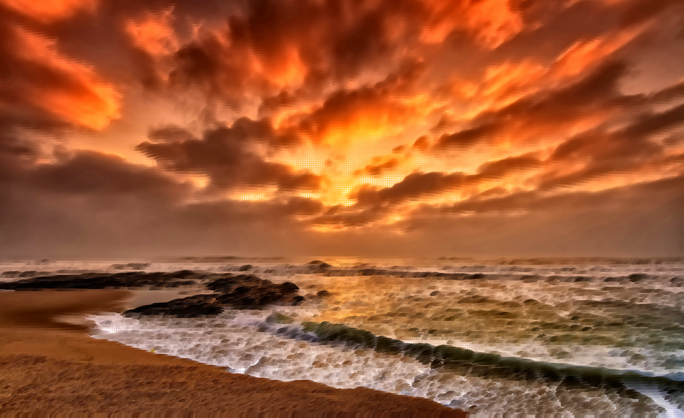 Surreal Beach Sunset by GDJ