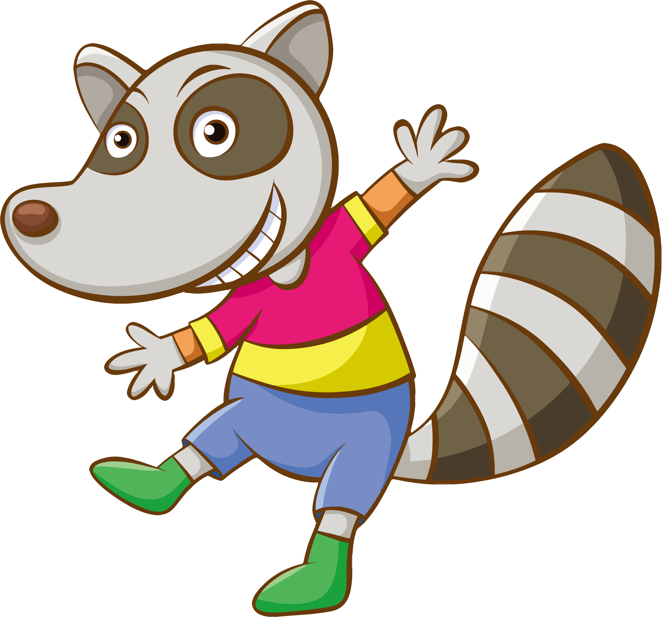 Cartoon Raccoon by GDJ