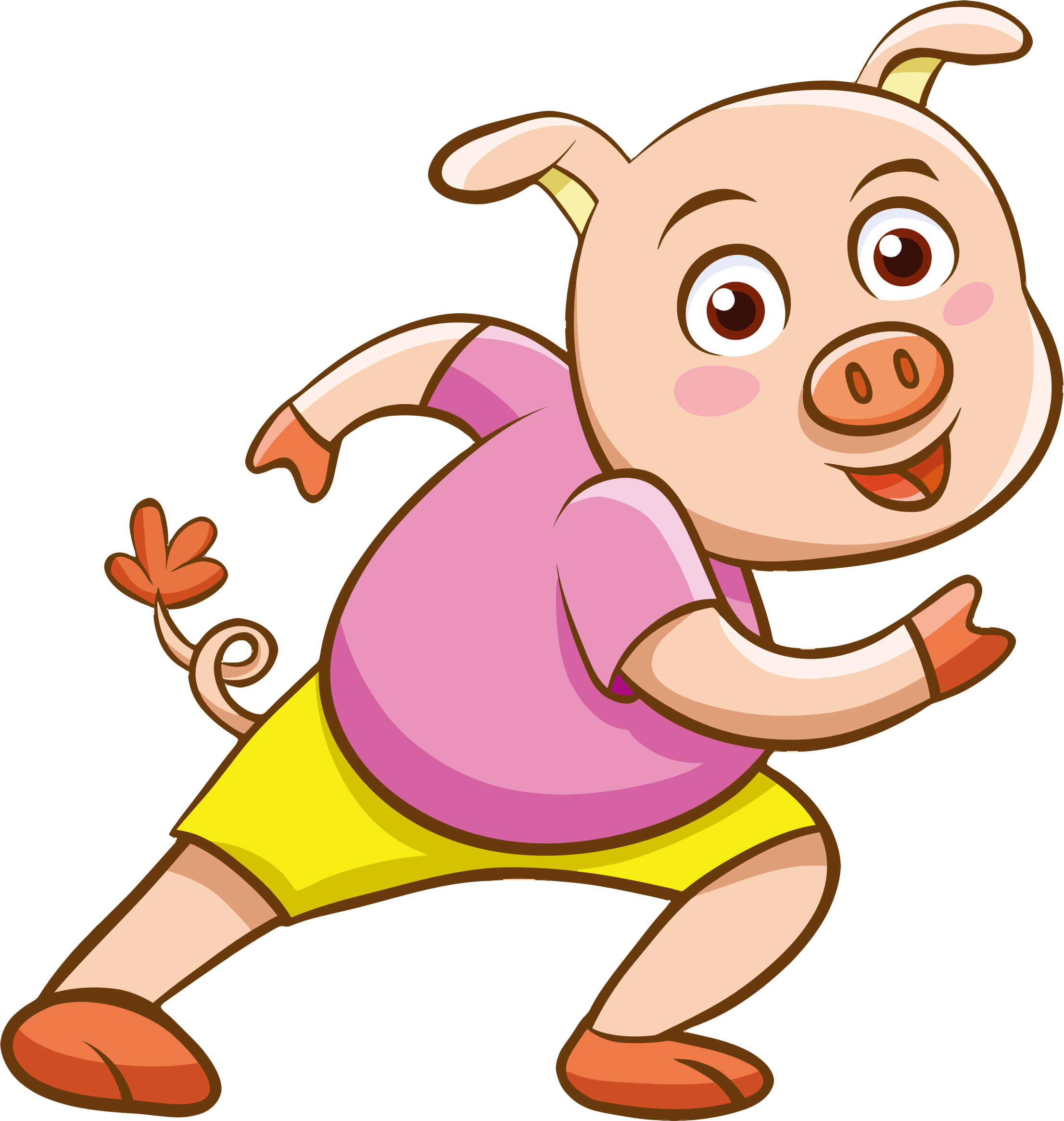 Cartoon Pig by GDJ