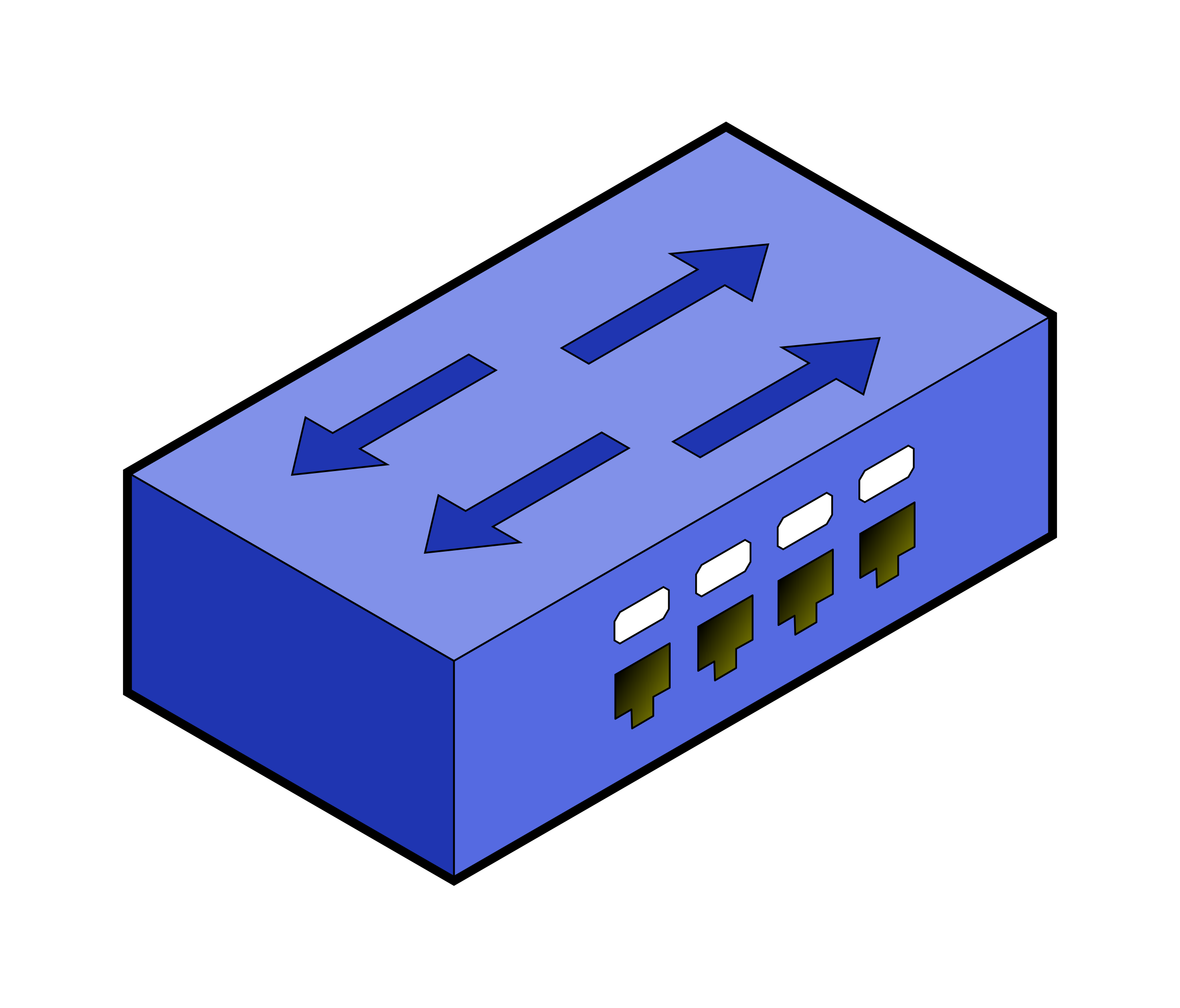 isometric switch with border by Fabuio