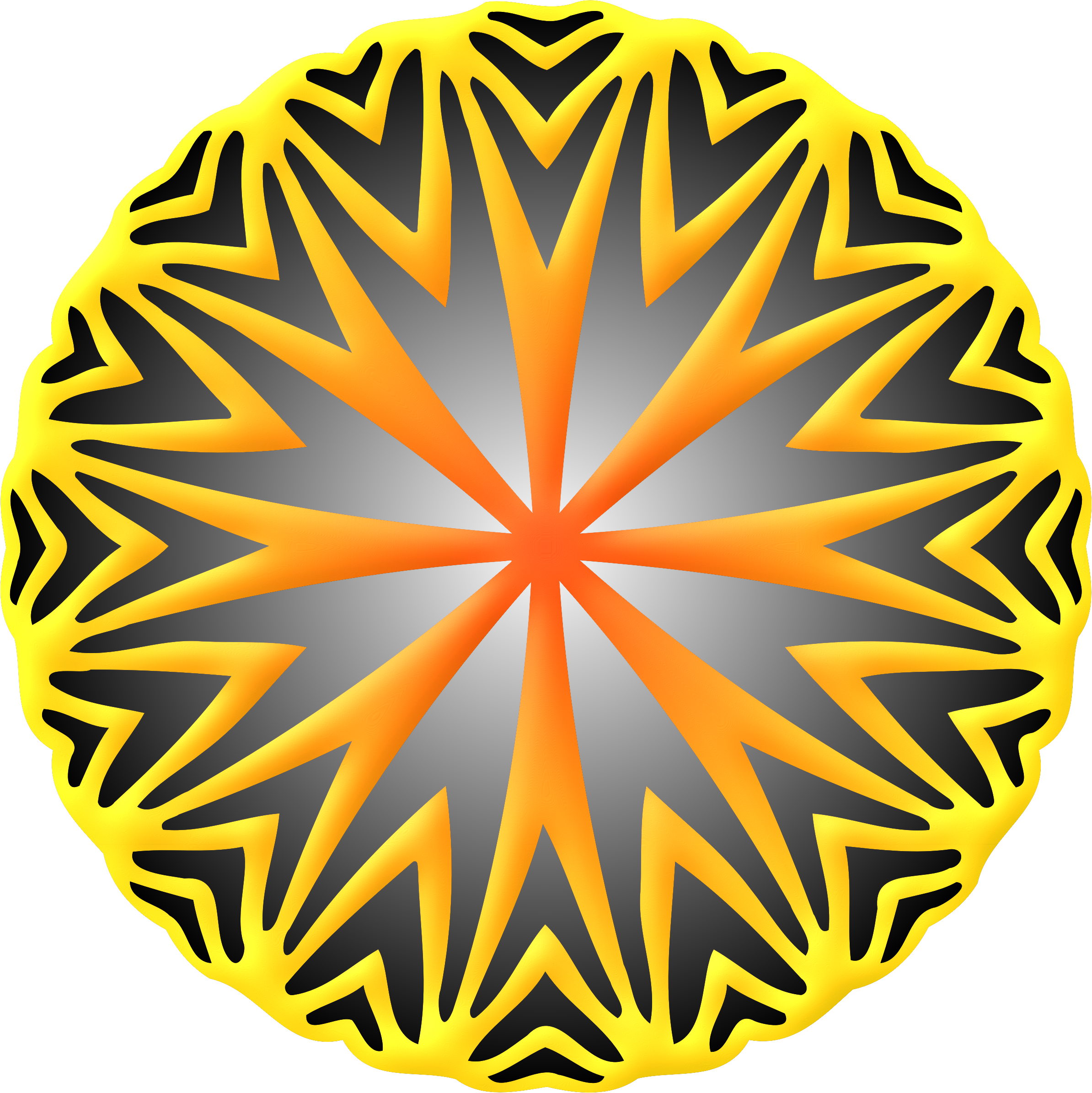 Circular ornament 32 (colour) by Firkin