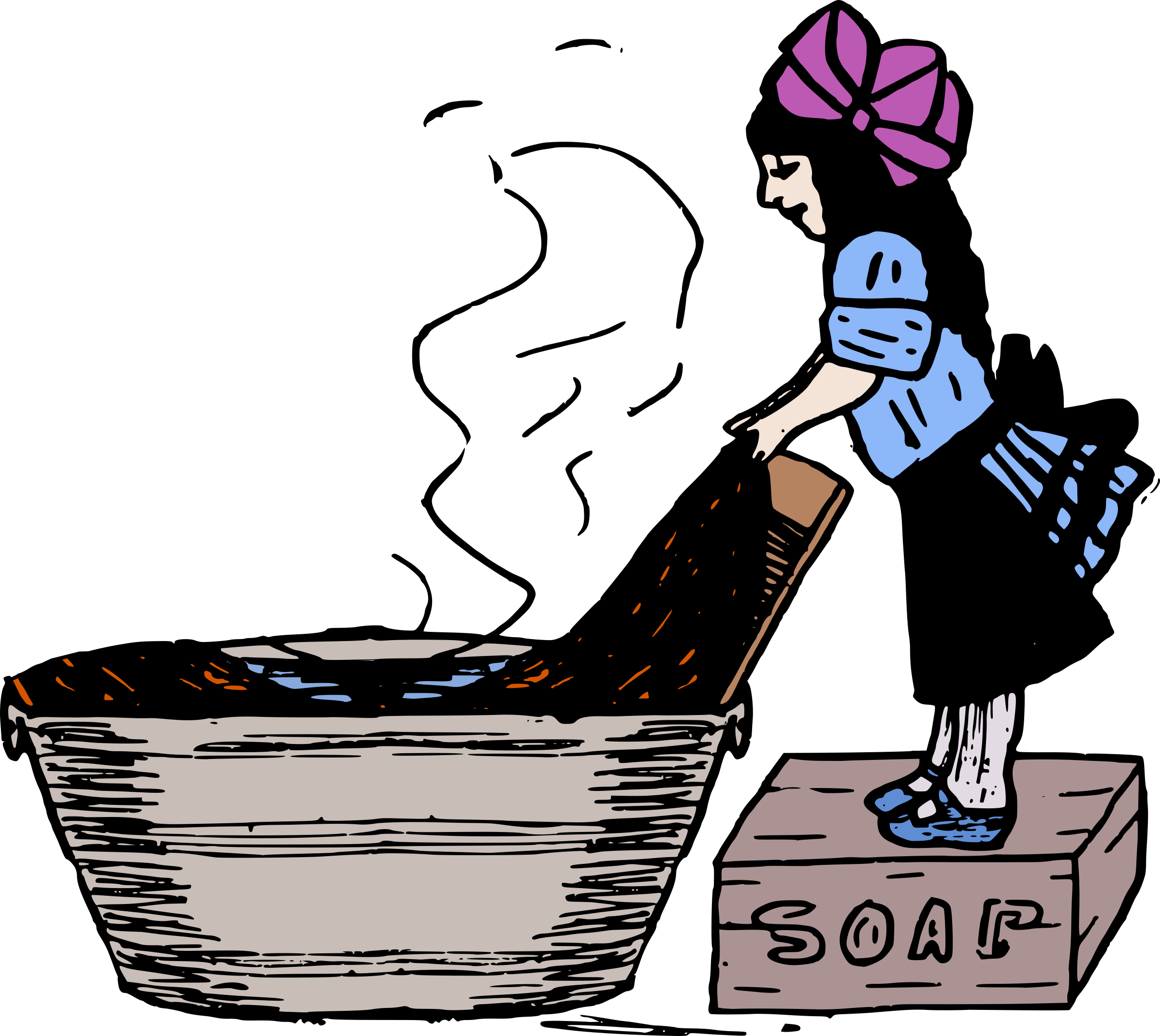 Young Lady Doing Laundry by j4p4n