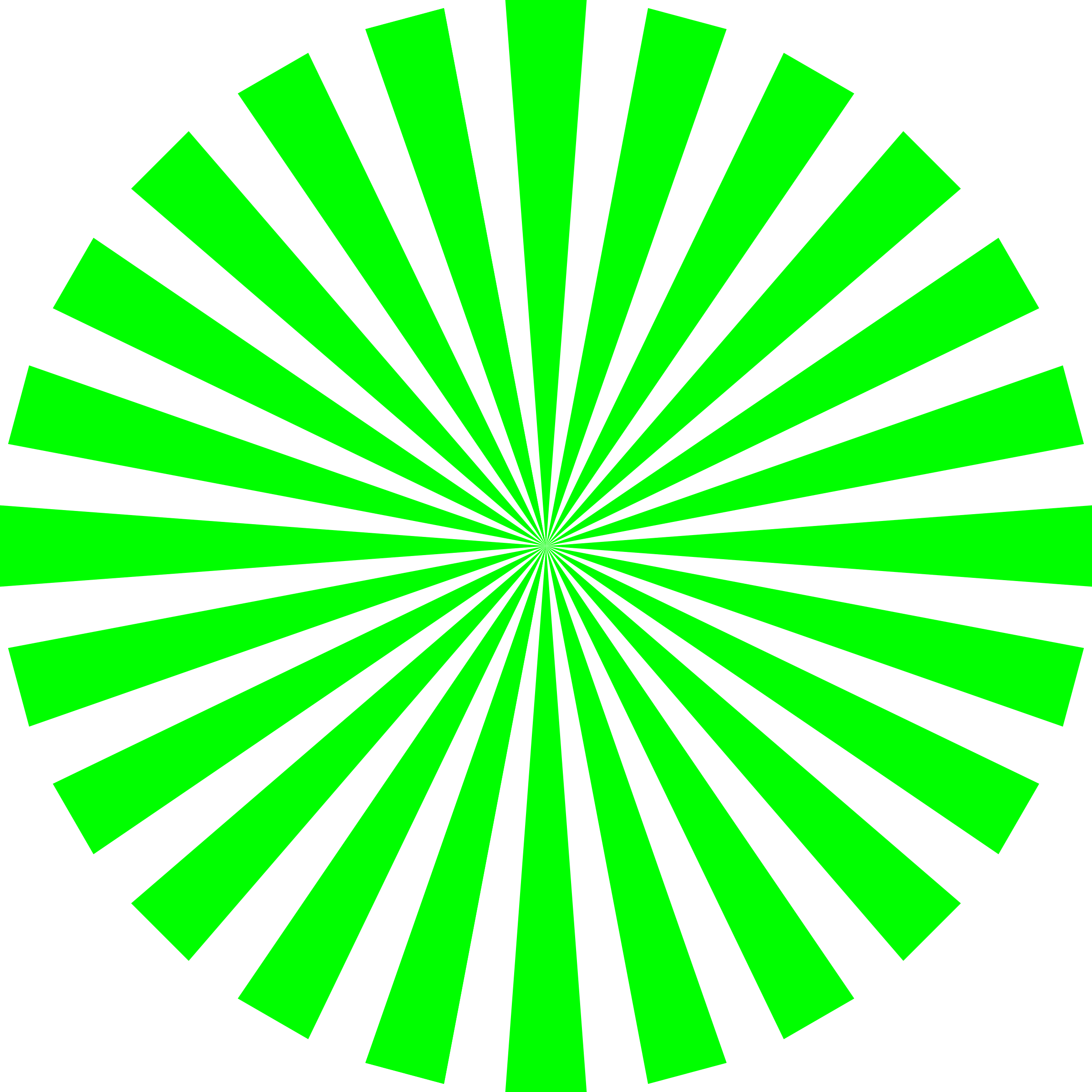 Basic Green Star Burst by CCX