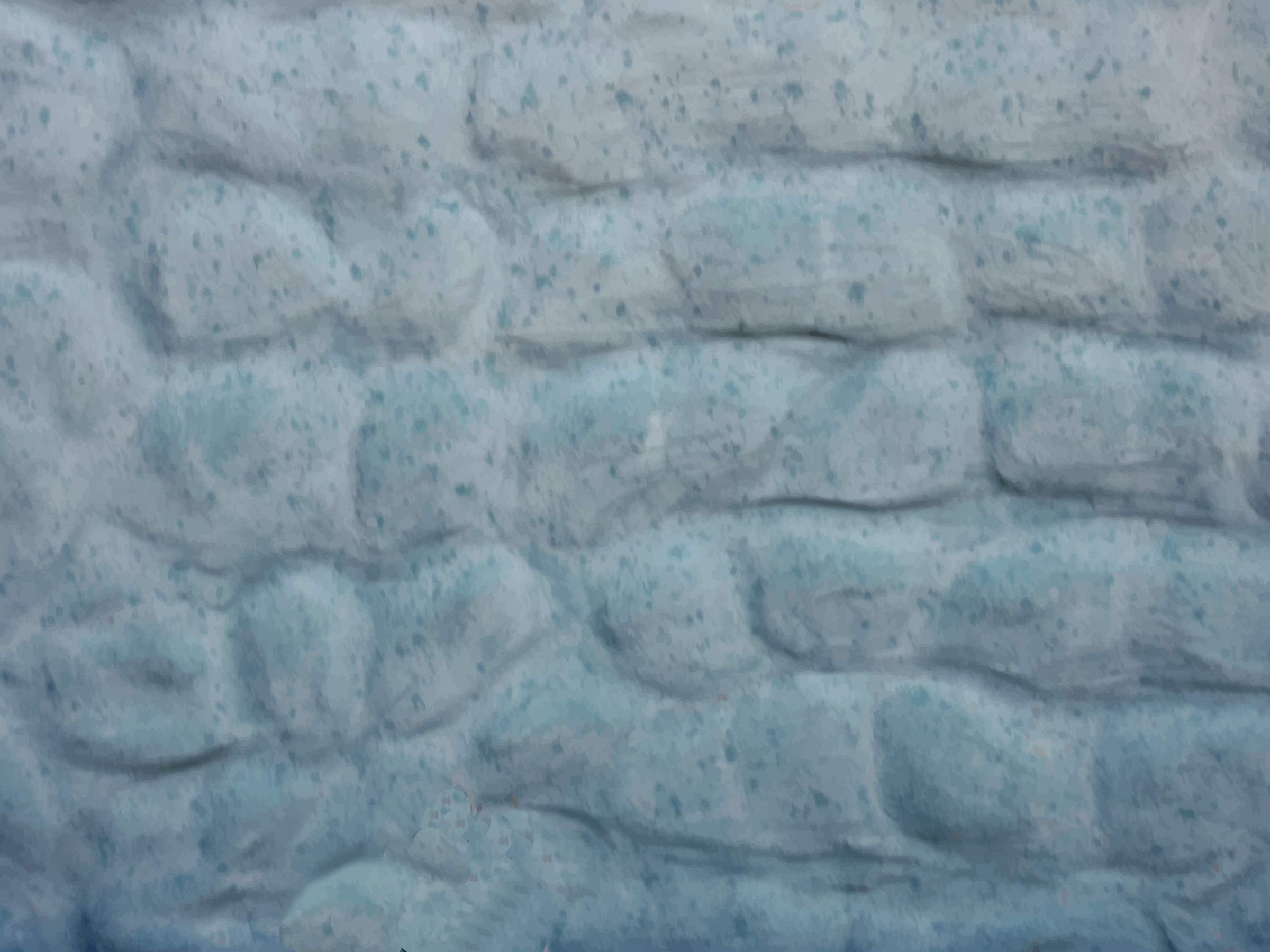Painted stone wall by Firkin