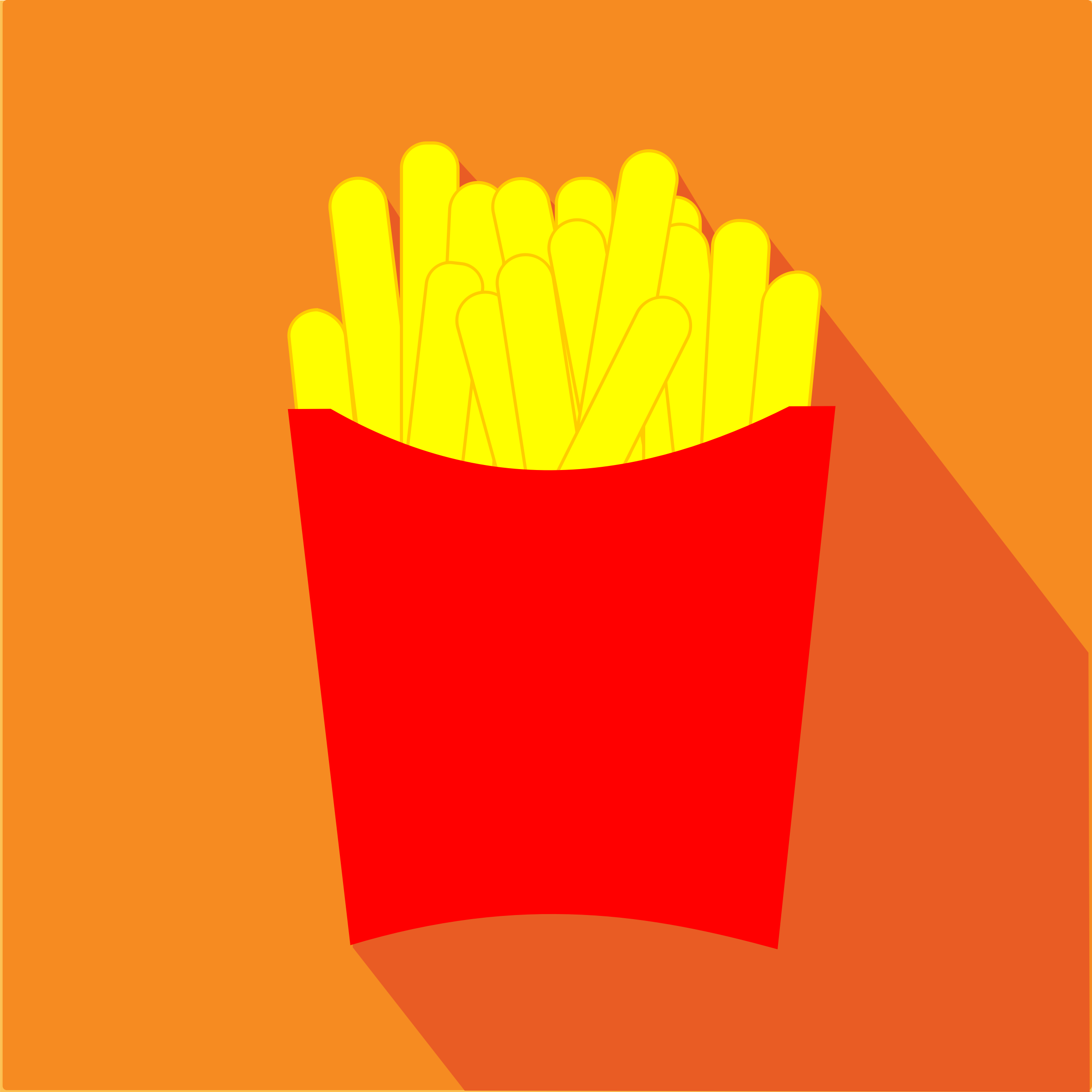 French Fries Icon by j4p4n