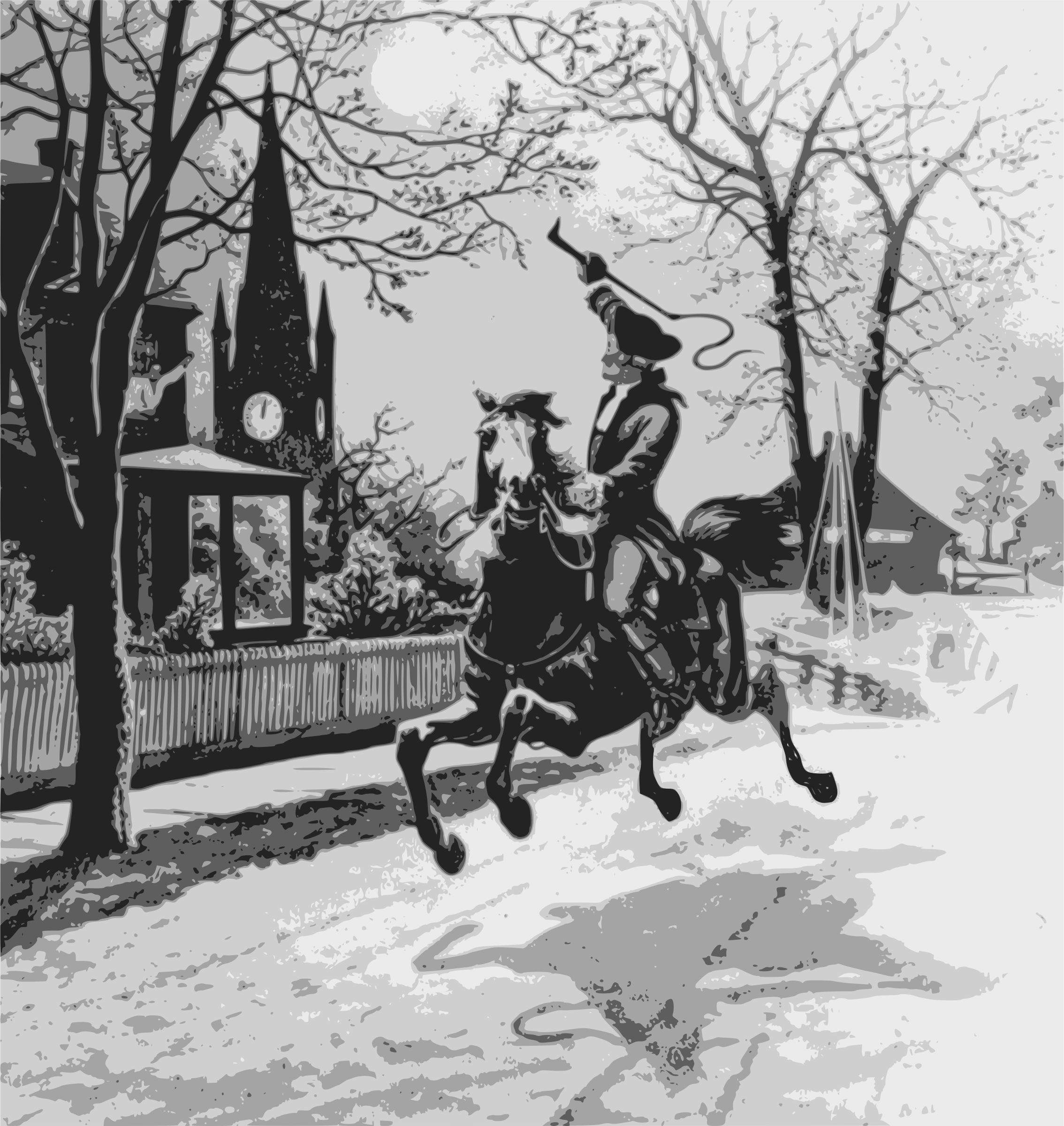 Drawing Lines James Rachels Summary : Clipart paul revere