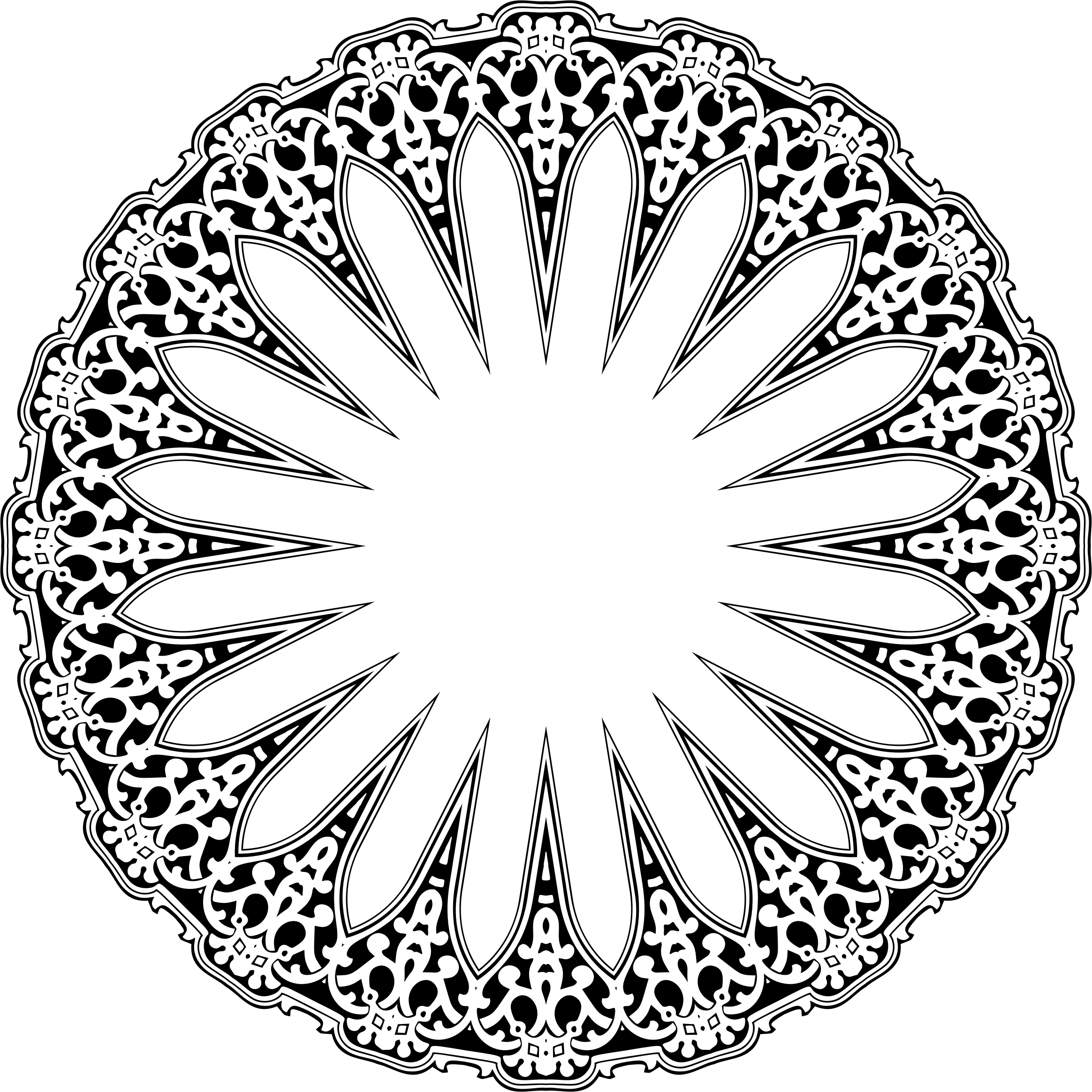 Vintage Decorative Ornamental Design 4 by GDJ