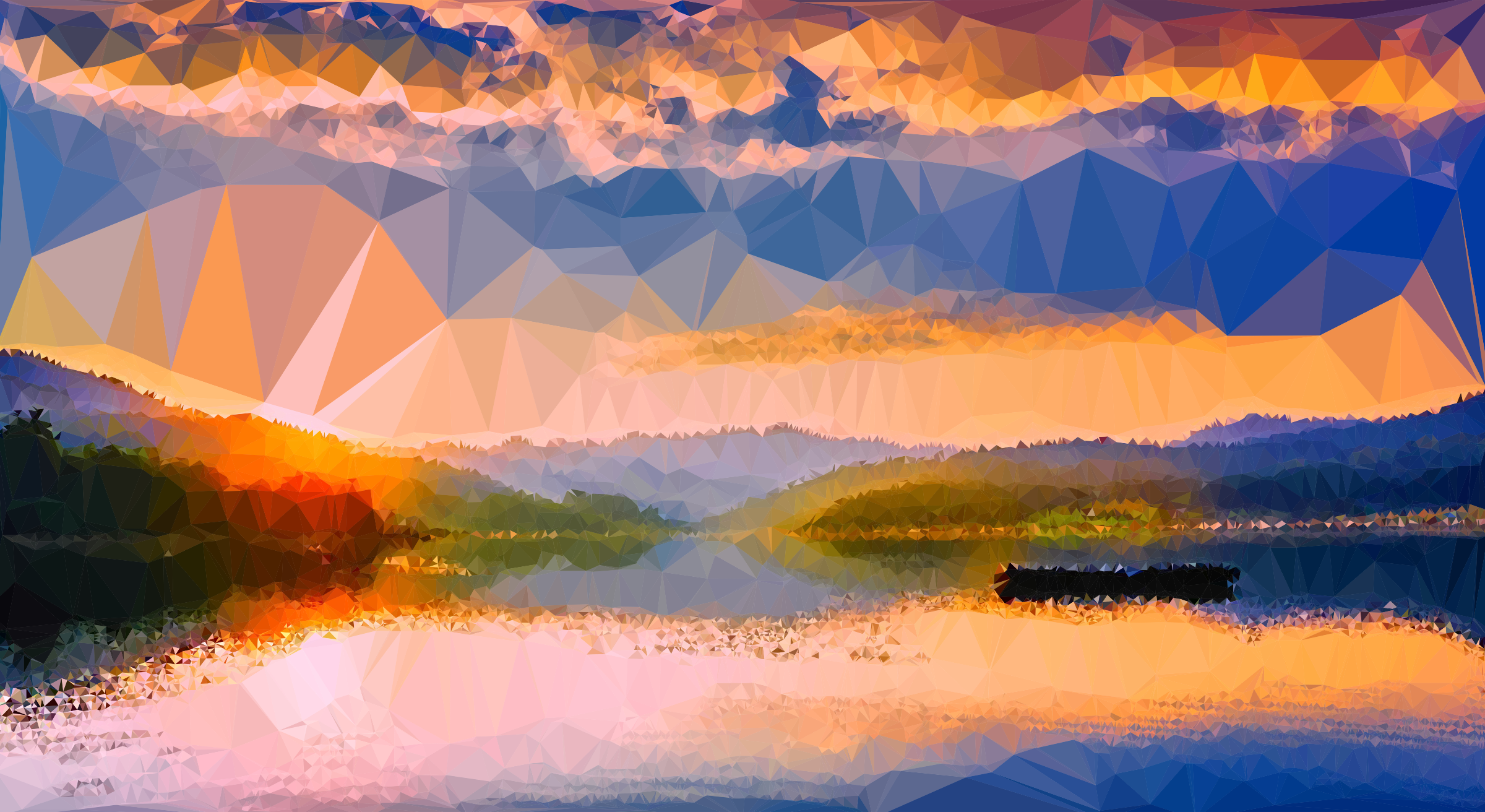 Low Poly Romanian Lake by GDJ