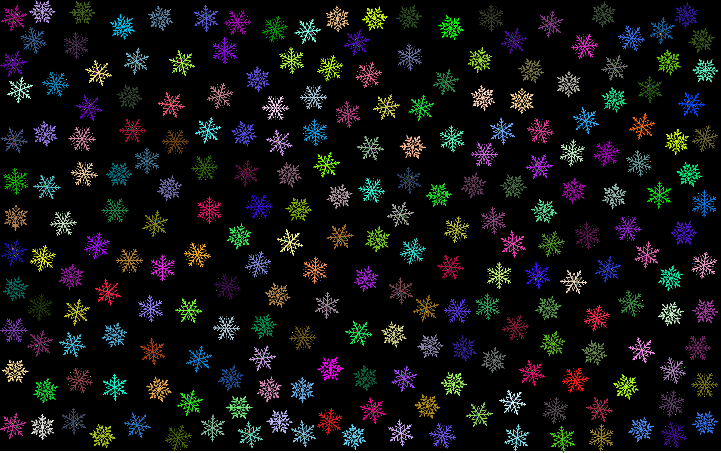 Prismatic Snowflakes Pattern by GDJ