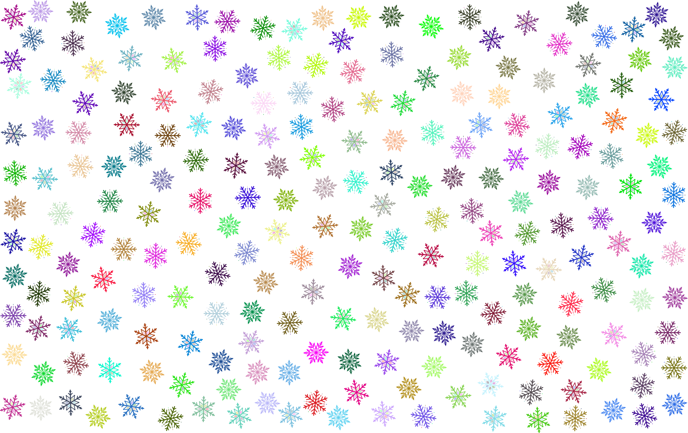 Prismatic Snowflakes Pattern No Background by GDJ