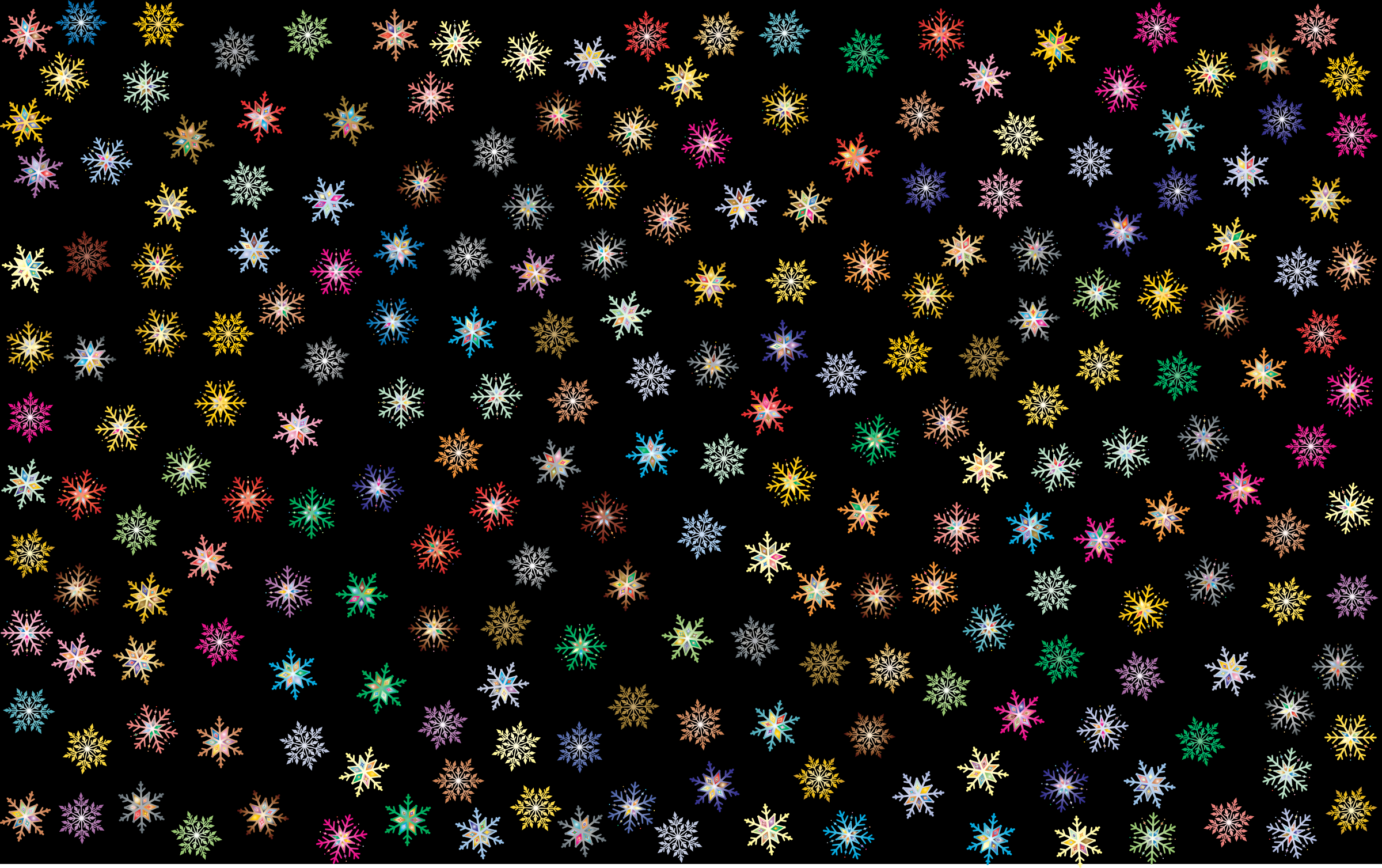 Prismatic Snowflakes Pattern 2 by GDJ